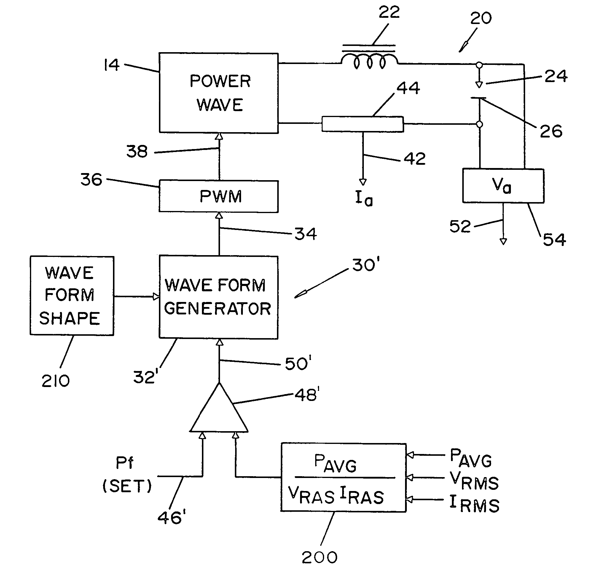 Patent Us7064290 Electric Arc Welder And Method For Controlling Welding Process Diagram Drawing