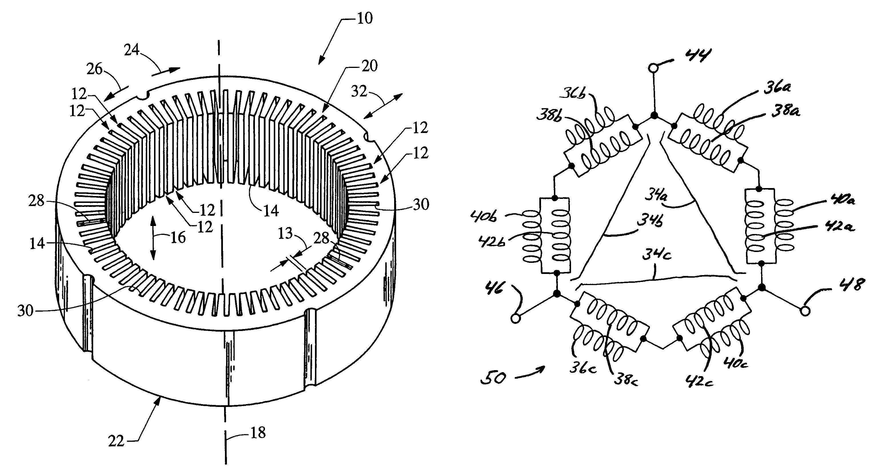Patent Us7075206 Vehicle Alternator Stator Winding