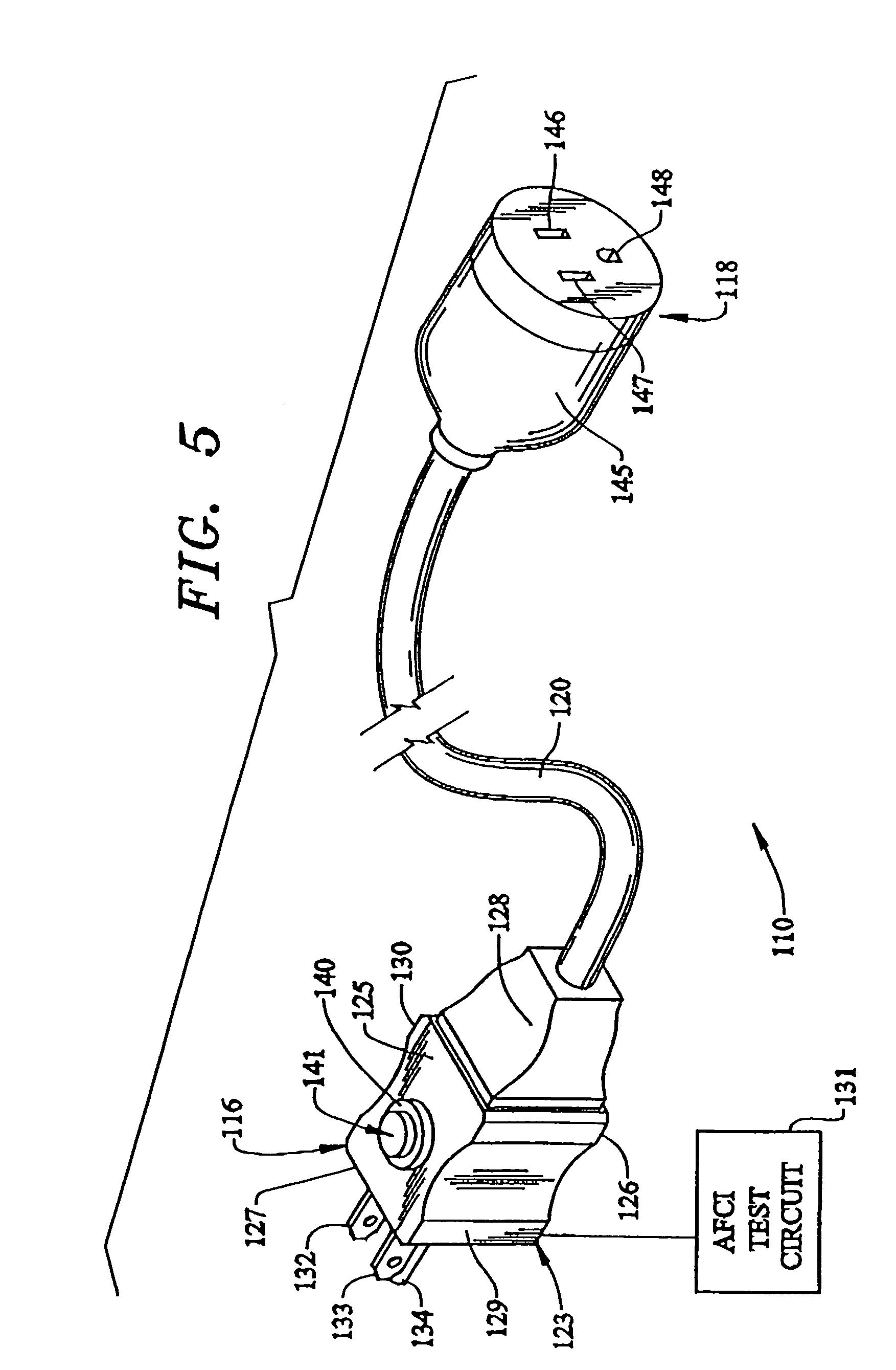 patent us7091723 - afci circuit test module