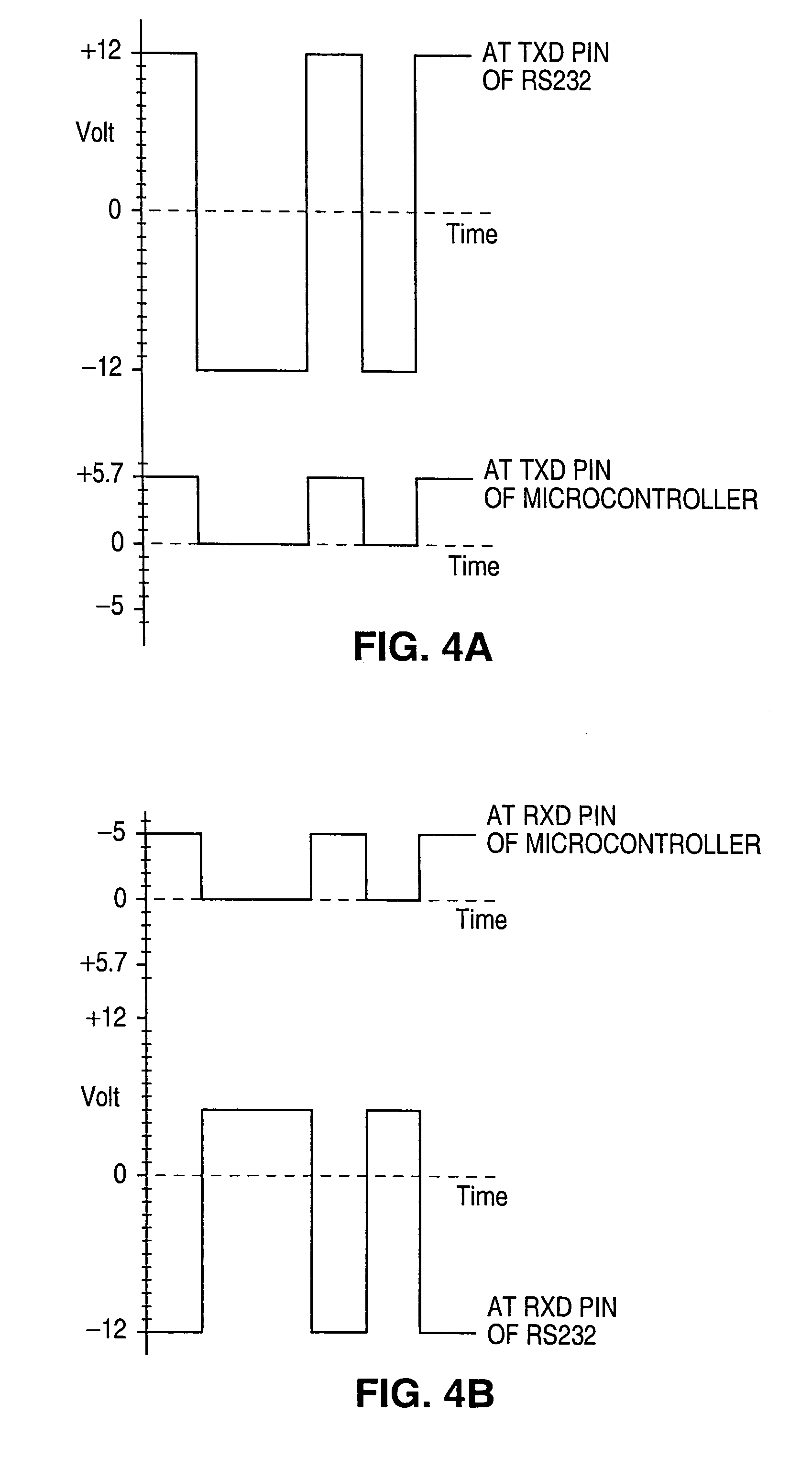 Patent Us7093054 Method Of Transferring Signals Between A Ttl To Rs232 Level Converter Using Transistor Circuit Drawing