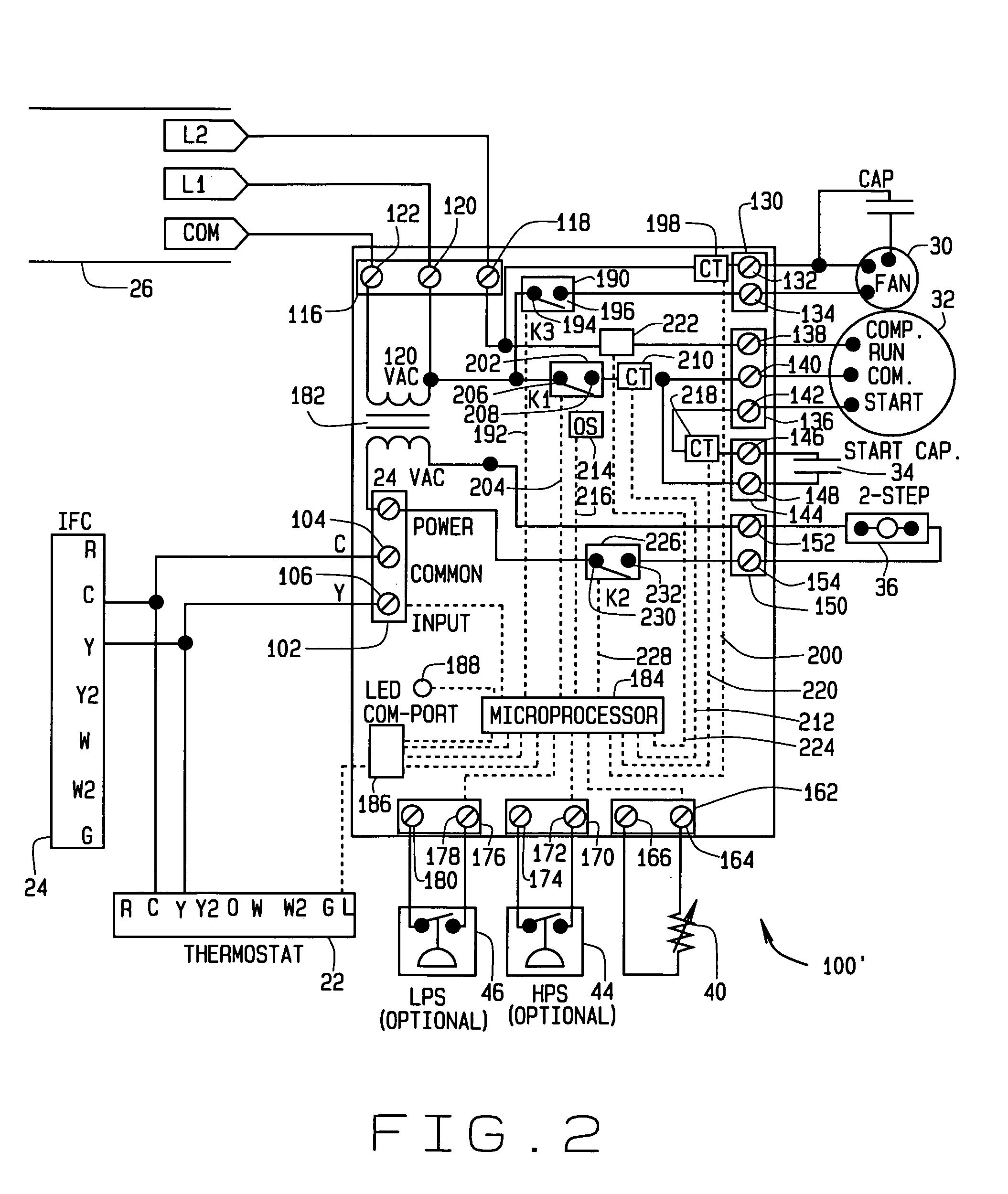 patent us7100382 - unitary control for air conditioner and  or heat pump