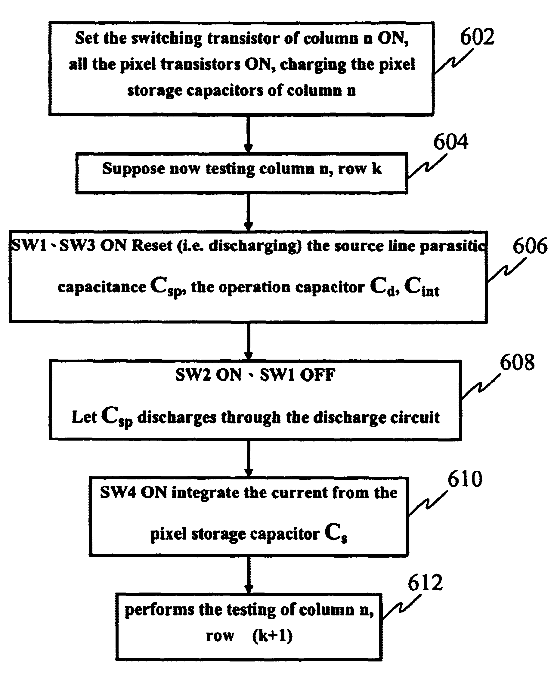 Patent Us7102378 Testing Apparatus And Method For Thin Film Capacitance Charging Discharging Of A Capacitor Drawing