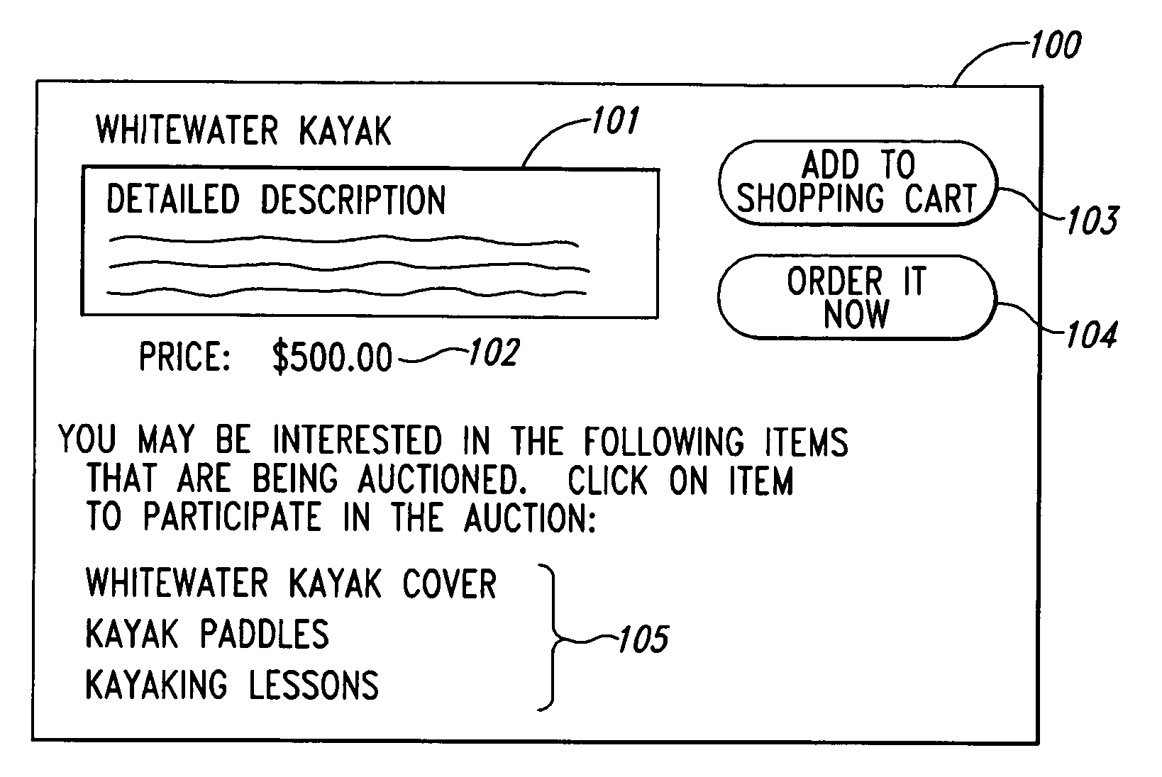 Amazon  patent by Jeff Bezos from 2006 for method and system for publicizing commercial transactions on a computer network - US7107227