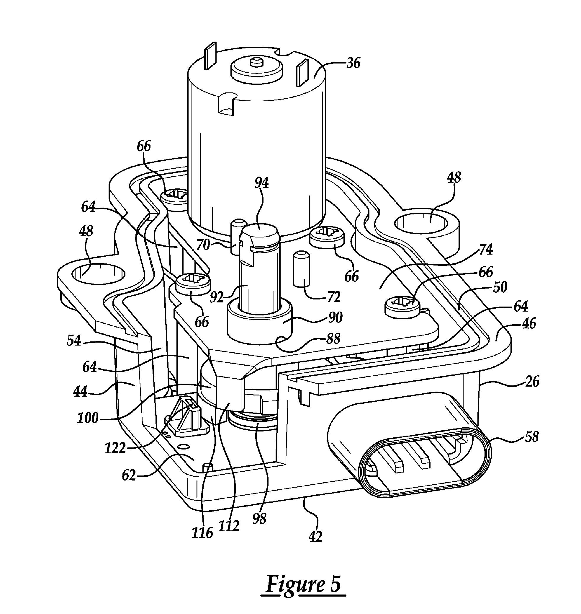 patent us7111602 - intake manifold tuning valve actuator