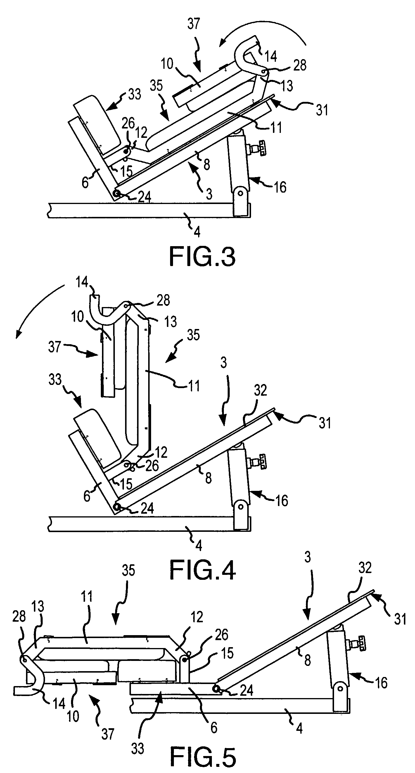 Patent US7115080 - Collapsible seat for combination hack ...