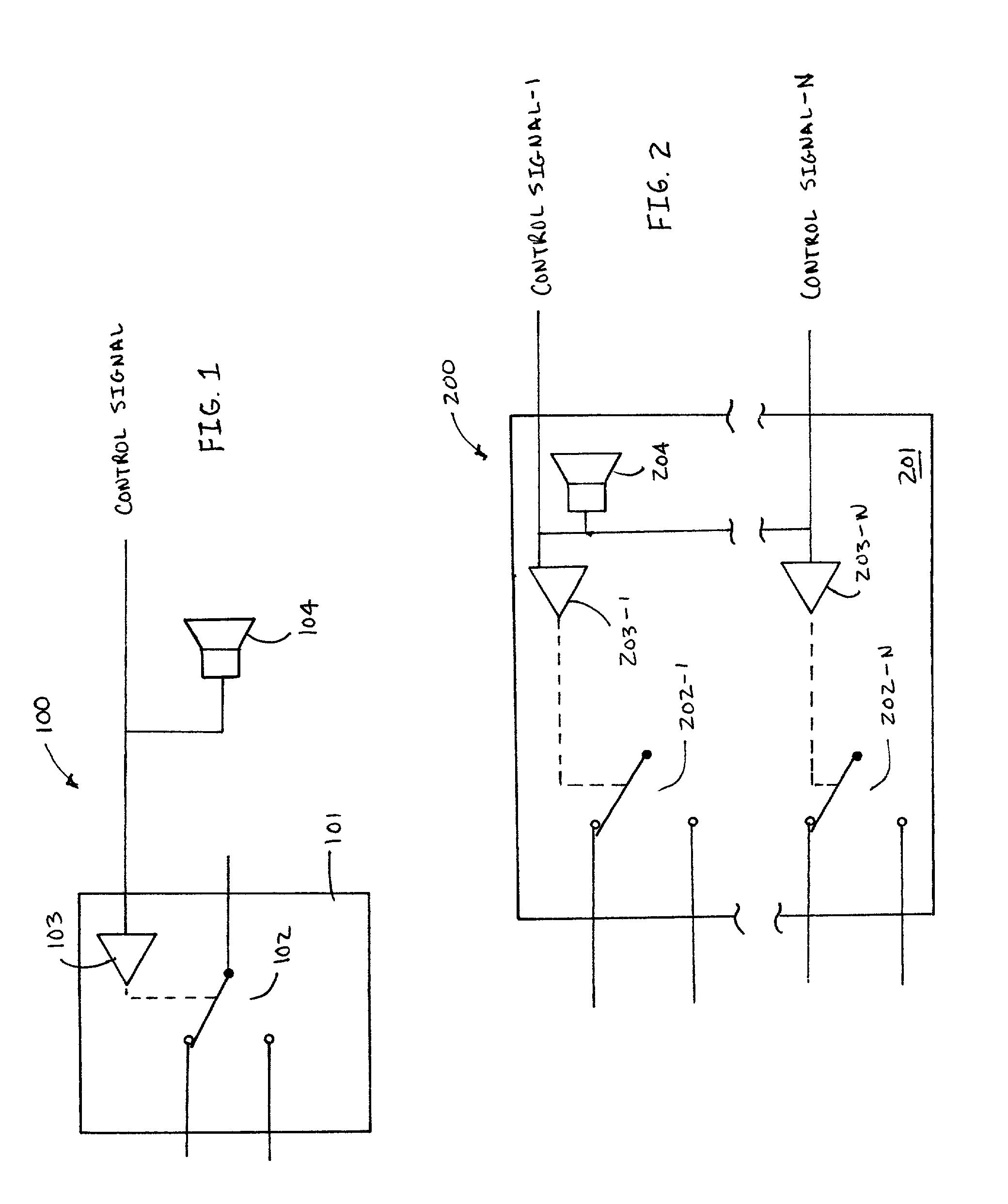 patent us7119702 - audible relay emulator