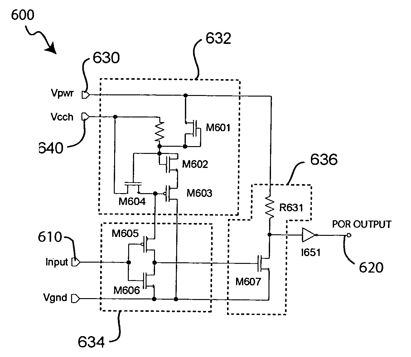patent us7126391 - power on reset circuits