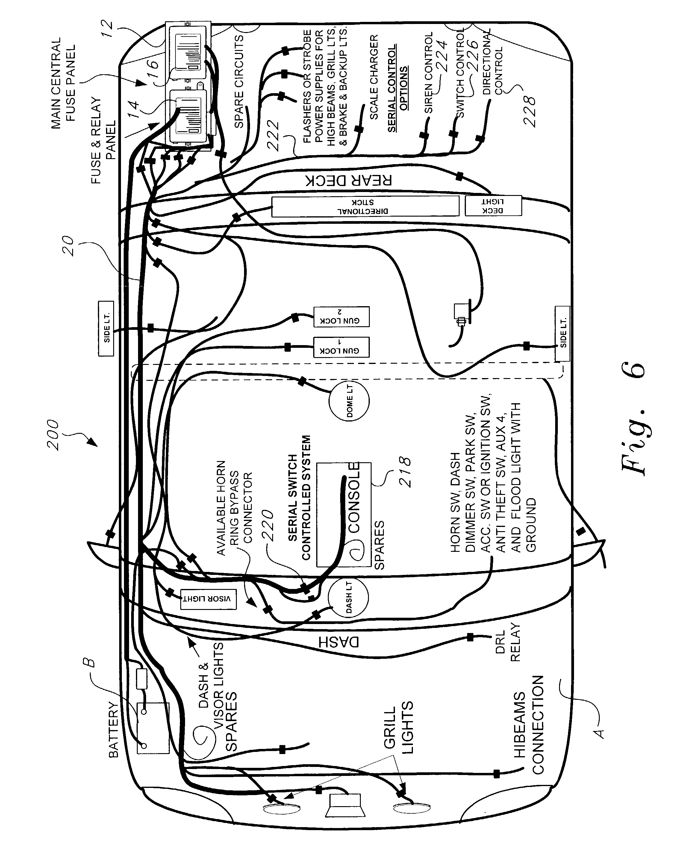 18 circuit universal wiring harness