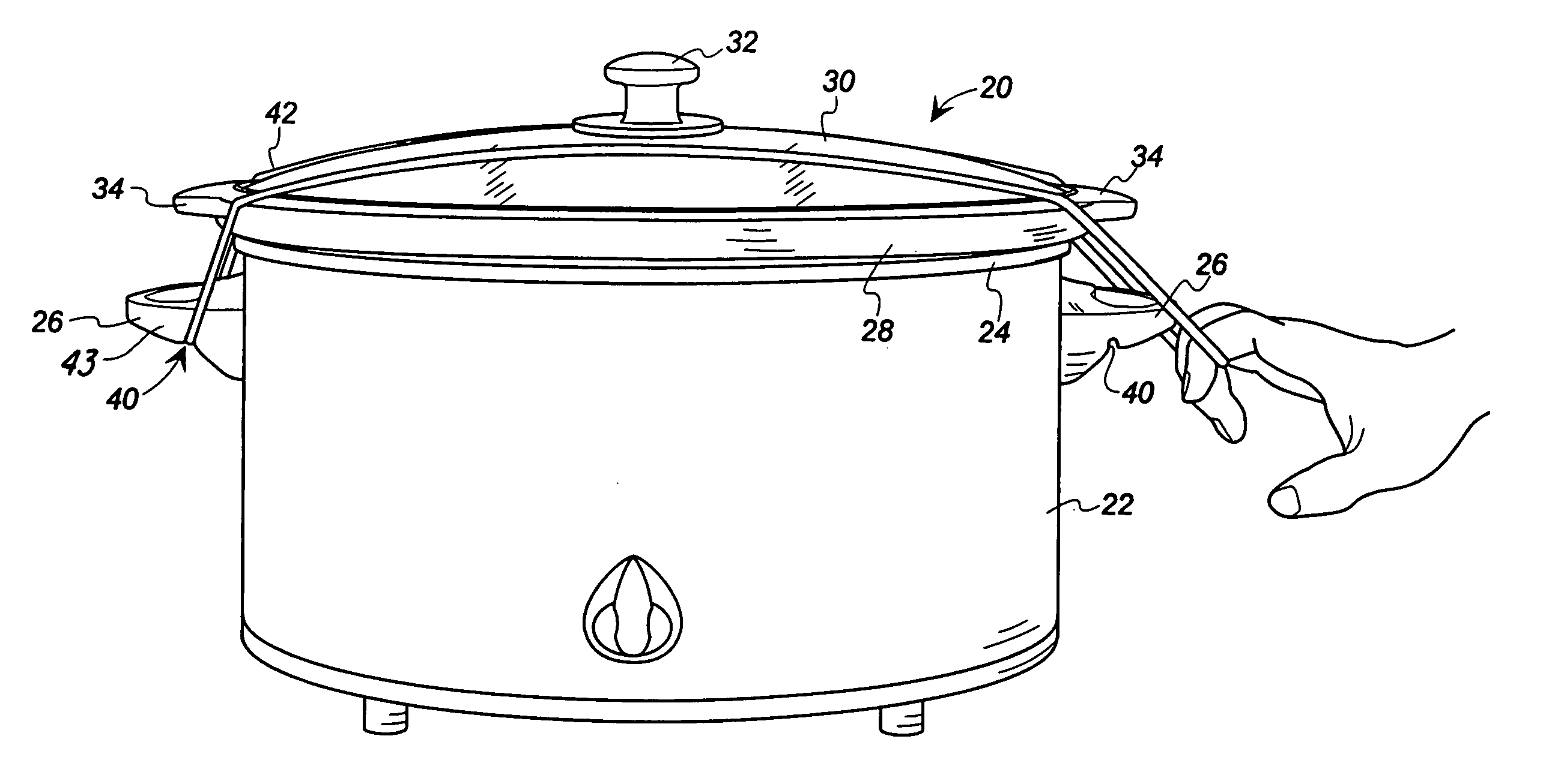 Patent Us7140506 Slow Cooker With Lid Clamp Google Patents