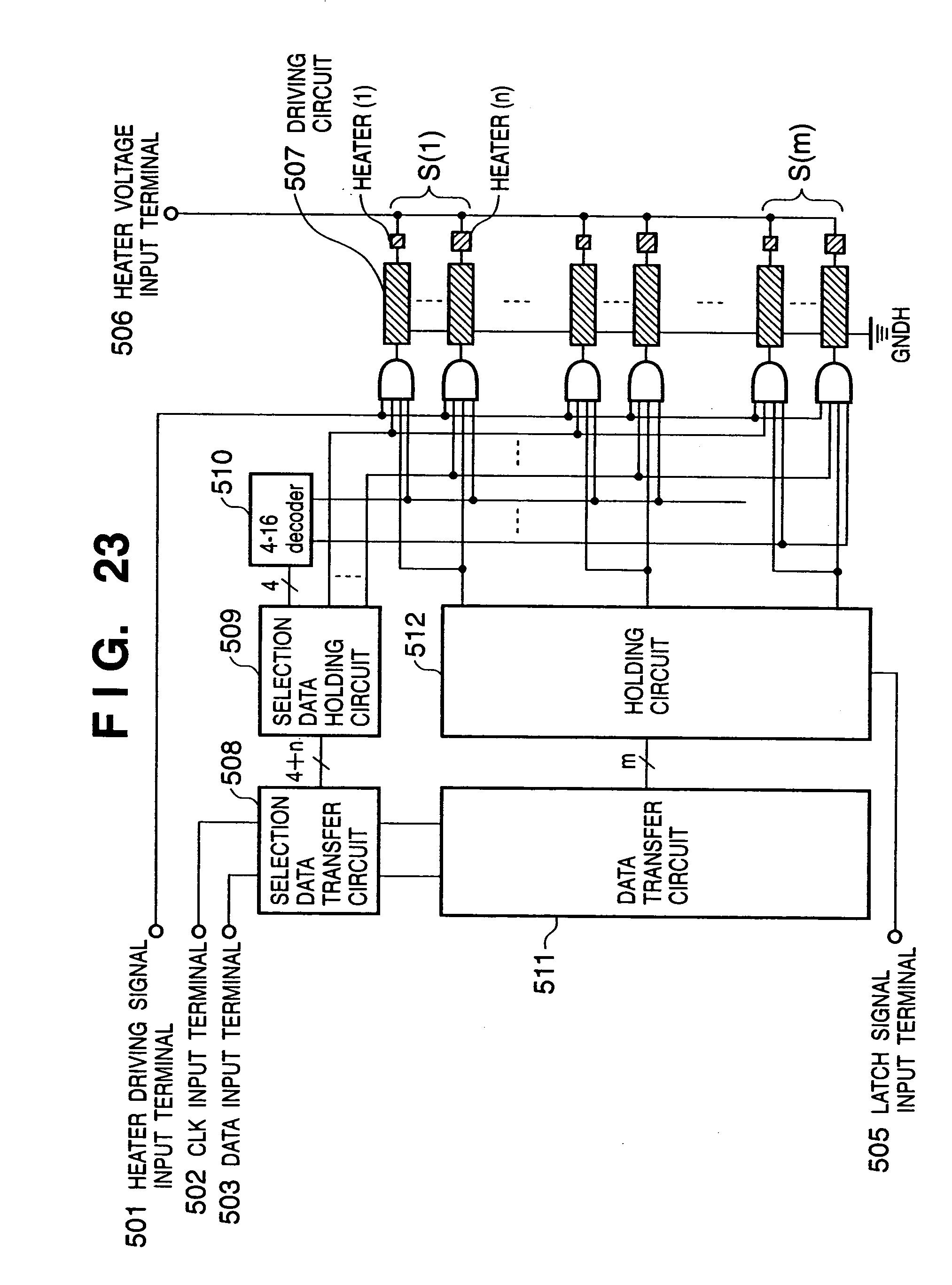 Patent Us7144093 Inkjet Printhead Driving Method Of 4 To 16 Decoder Logic Diagram Drawing