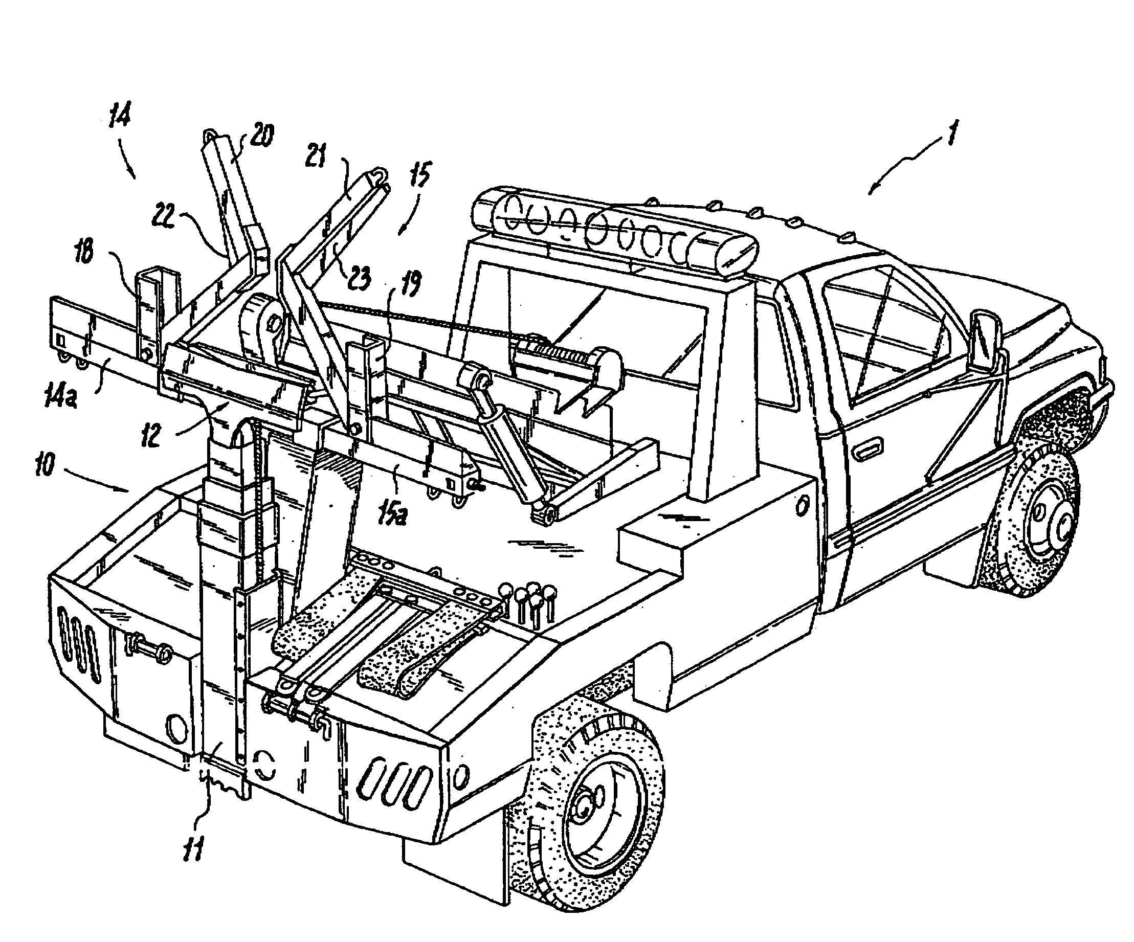 Wheel Lift Parts : Patent us wheel lift with laterally movable