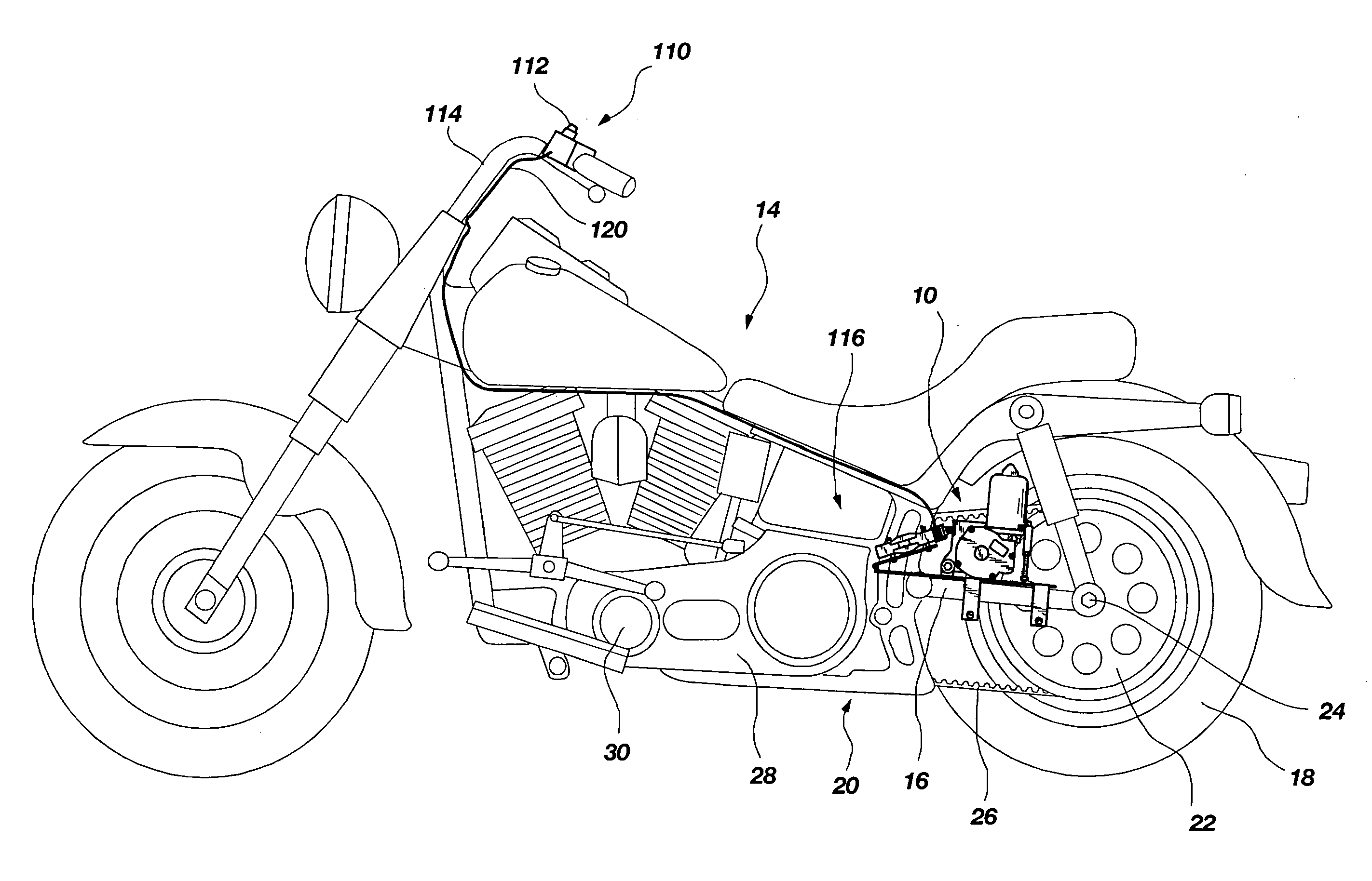 Patent US7156197 - Reversing mechanism for motorcycles