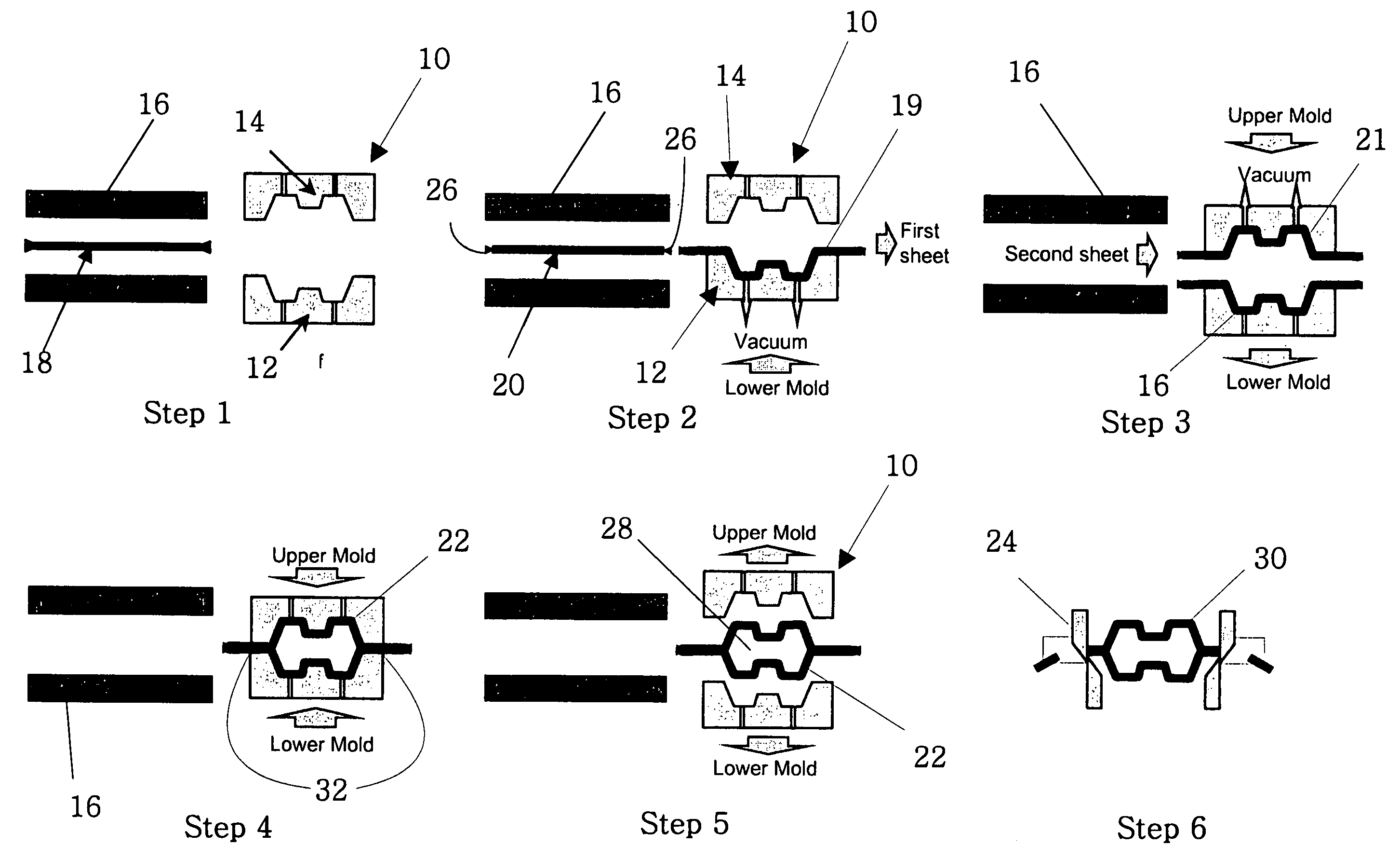 Patent Us7157034 Twin Sheet Thermoforming Process