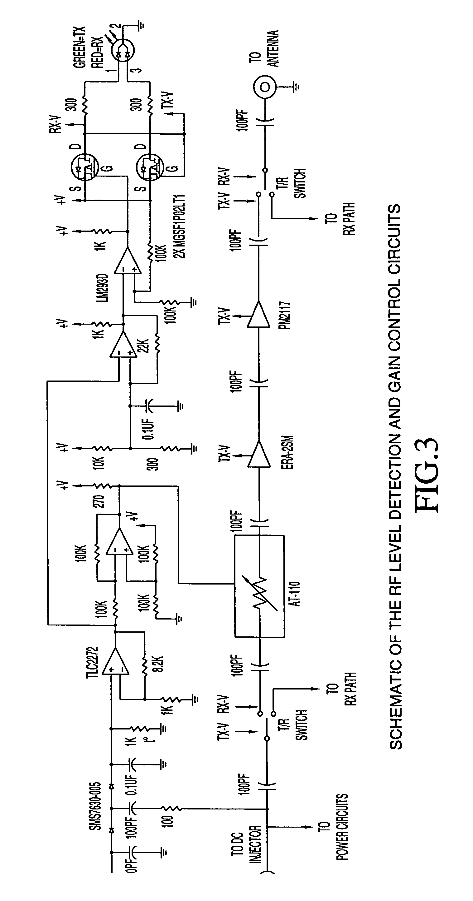 Us7158761 Smart Amplifier For Time Division Duplex Antenna Power Injector Schematic Patent Drawing