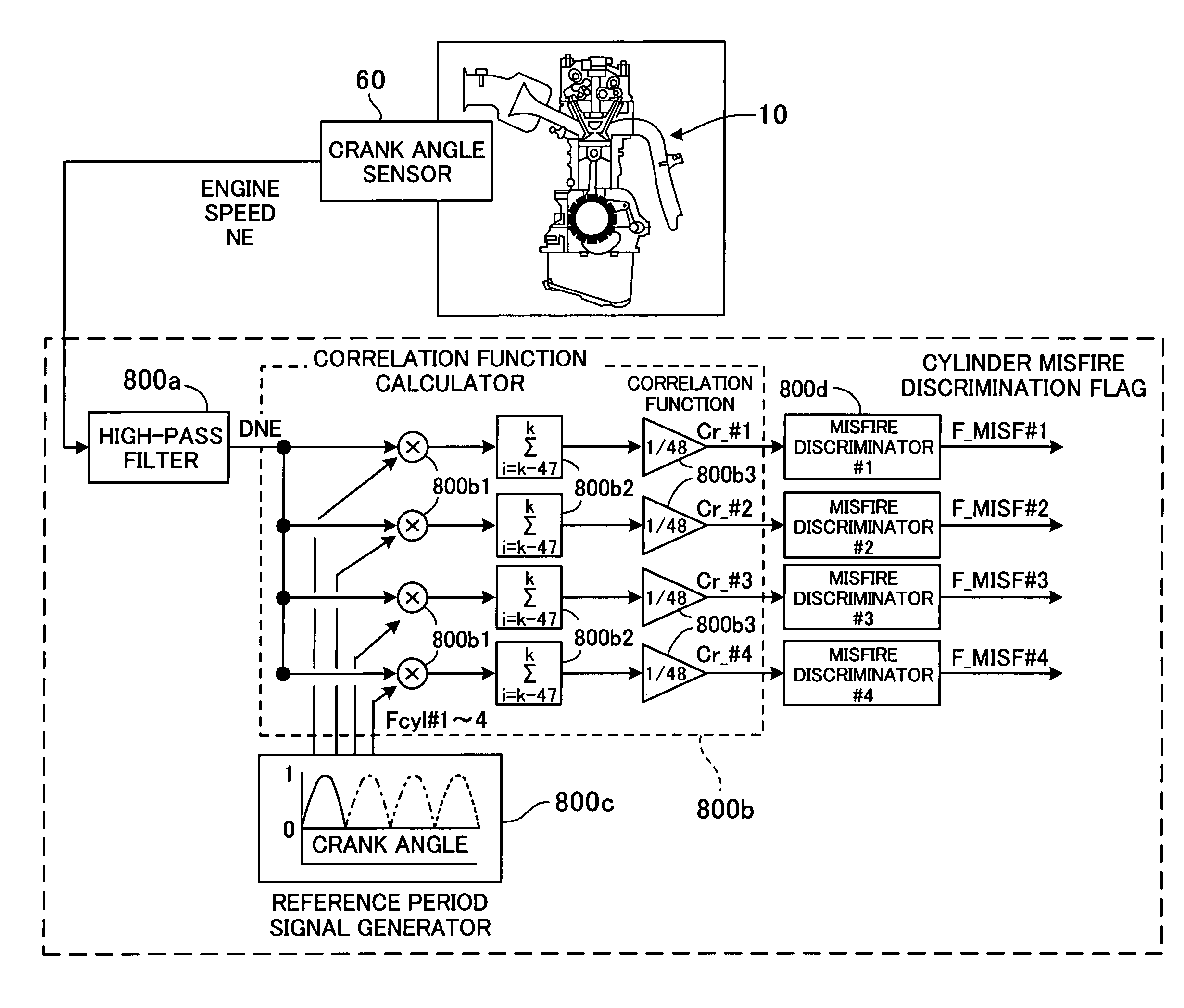 Patent US7158875 - Misfire detection system for internal combustion
