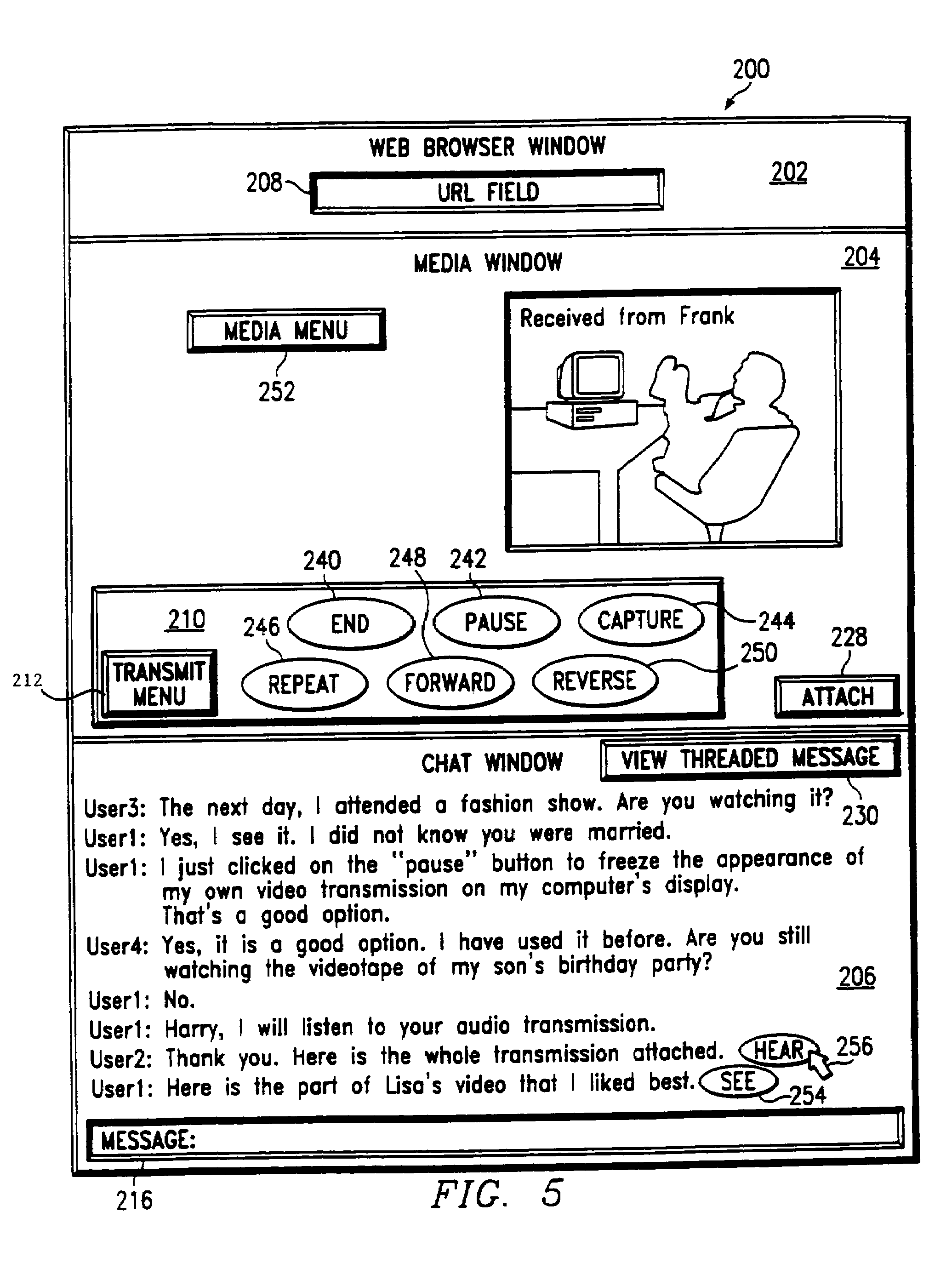 patent us7165213 method and system for coordinating media and  patent drawing