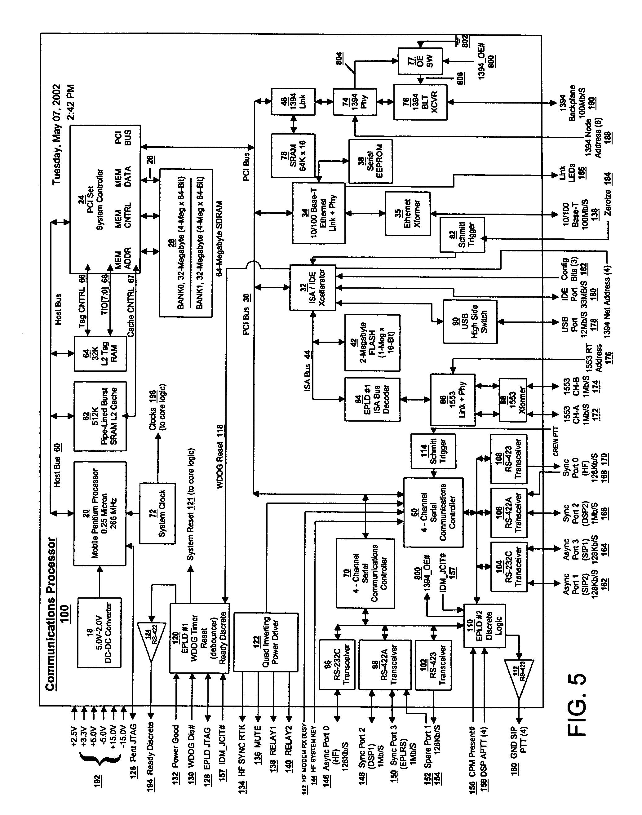 patent us7167945 - data modem