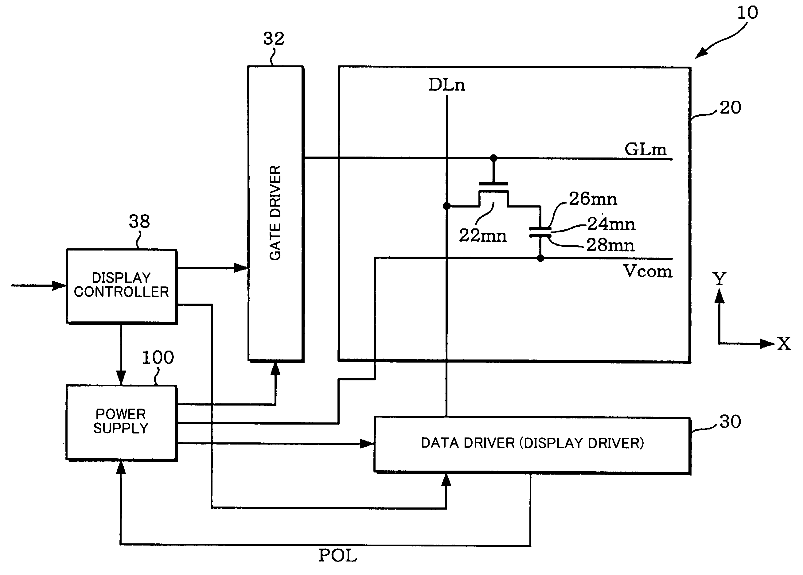Patent Us7173614 Power Supply Circuit Display Driver And Voltage Diagram Drawing