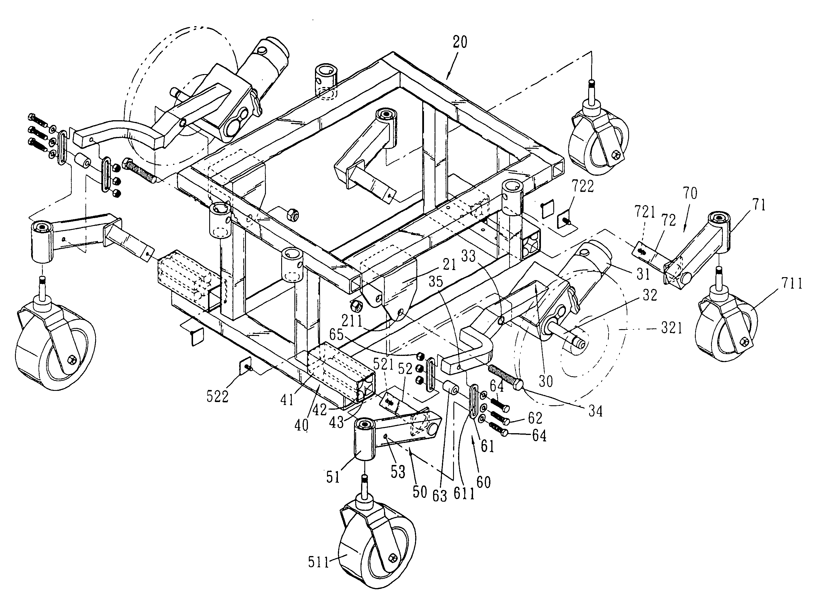 Patent Us7175193 Wheel Bracket Mechanism For An Electric