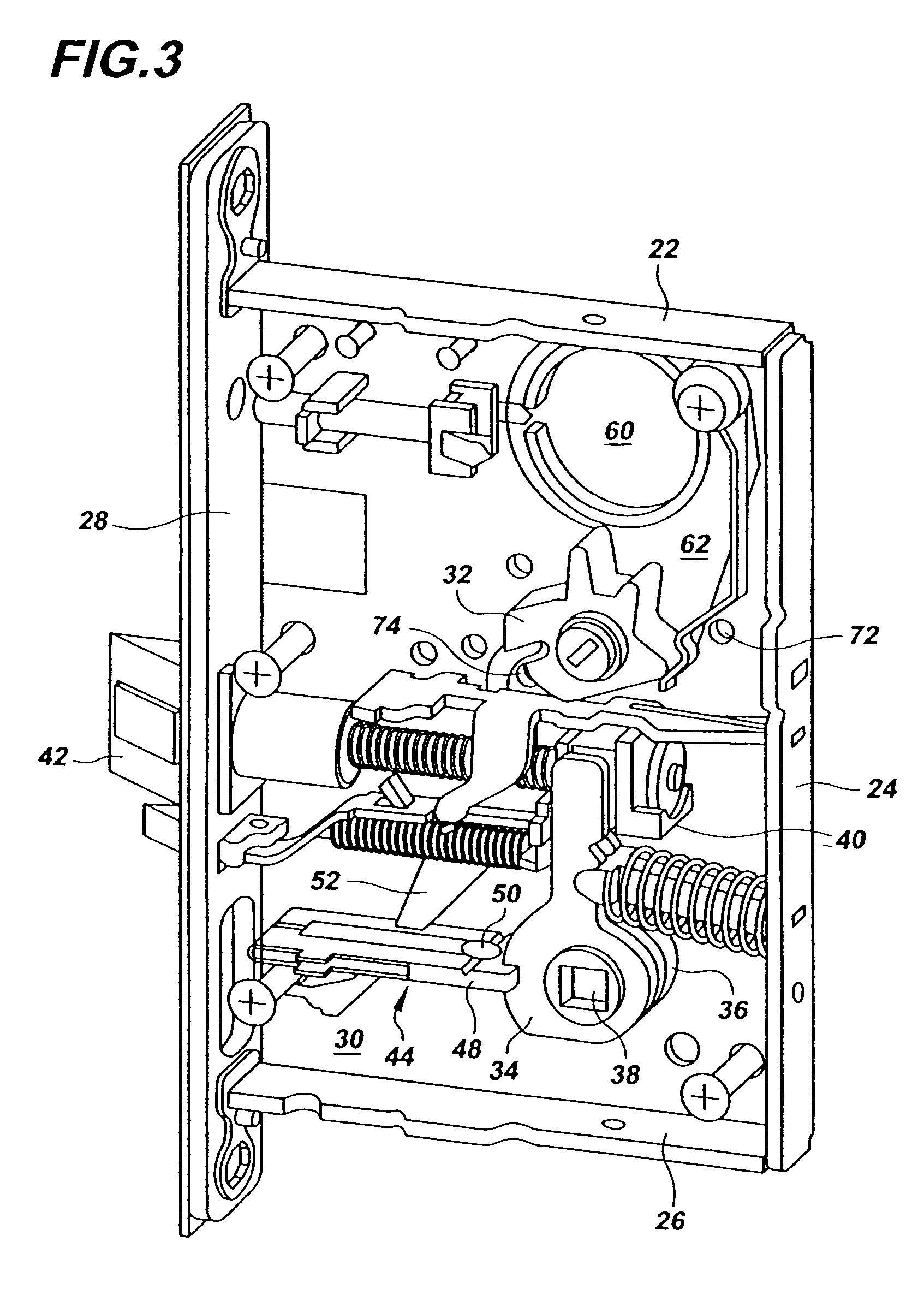 Patent Us7188870 Multi Functional Mortise Lock Google