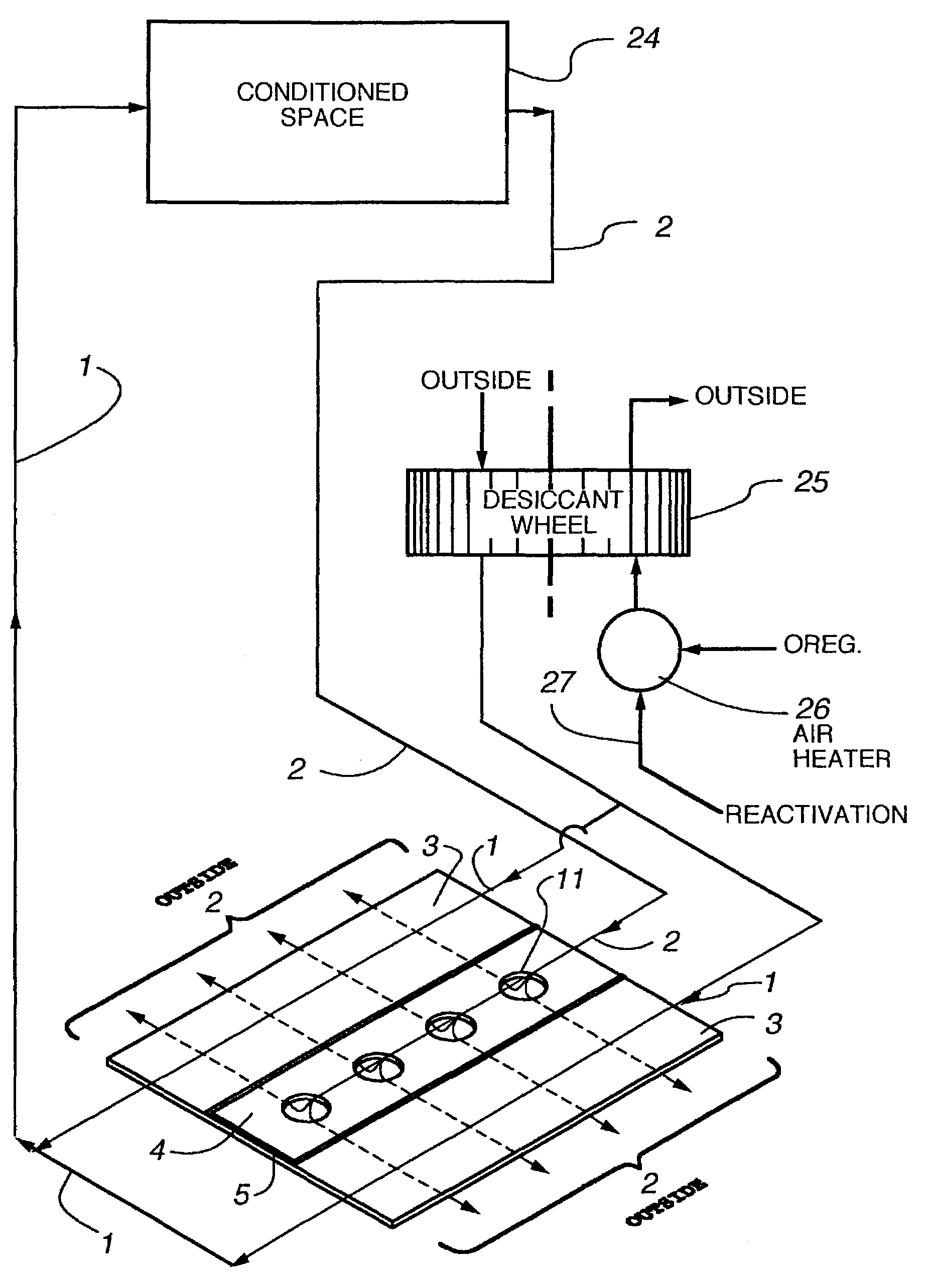 Patent Us7197887 Method And Plate Apparatus For Dew Point Swamp Cooler Air Conditioner Wiring Diagram Drawing