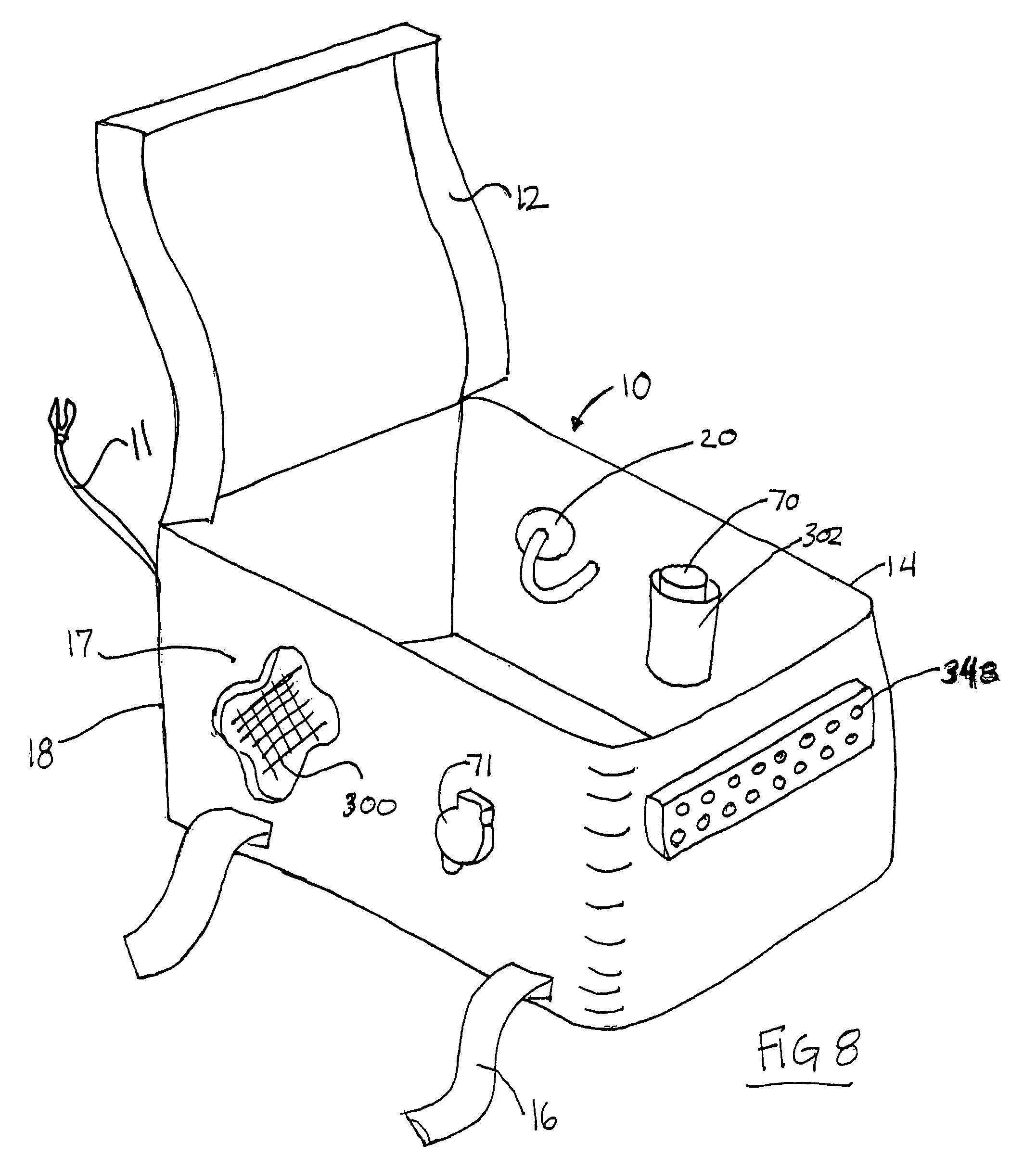 patent us7198512 - power distribution for luggage