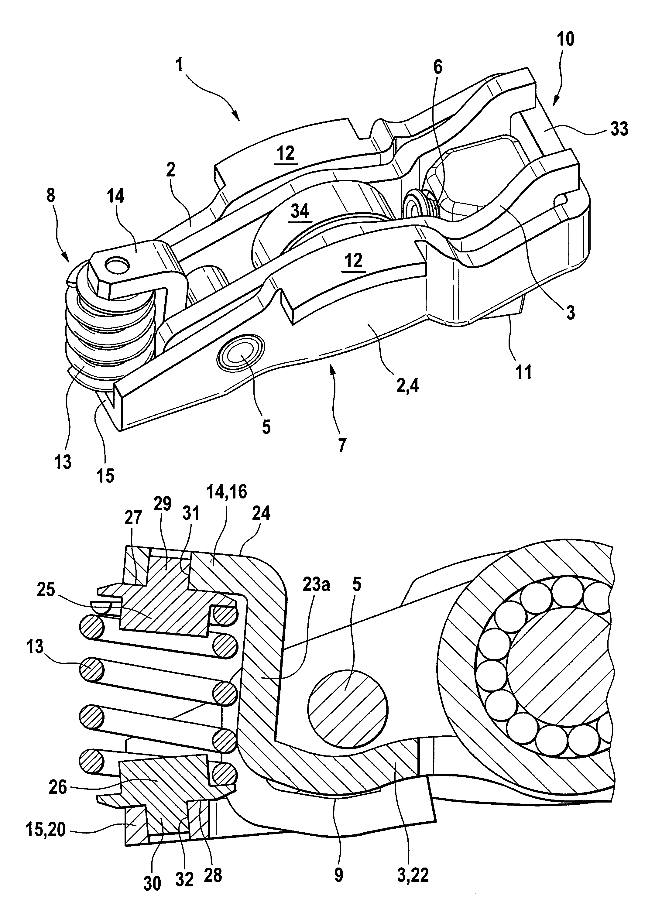 Combustion Engine Lever : Patent us adjustable valve rocker lever google