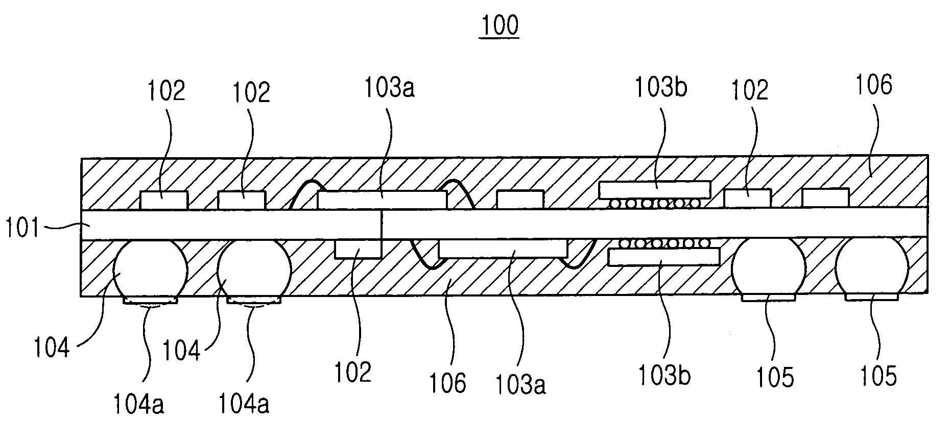 patent us7208824 - land grid array module
