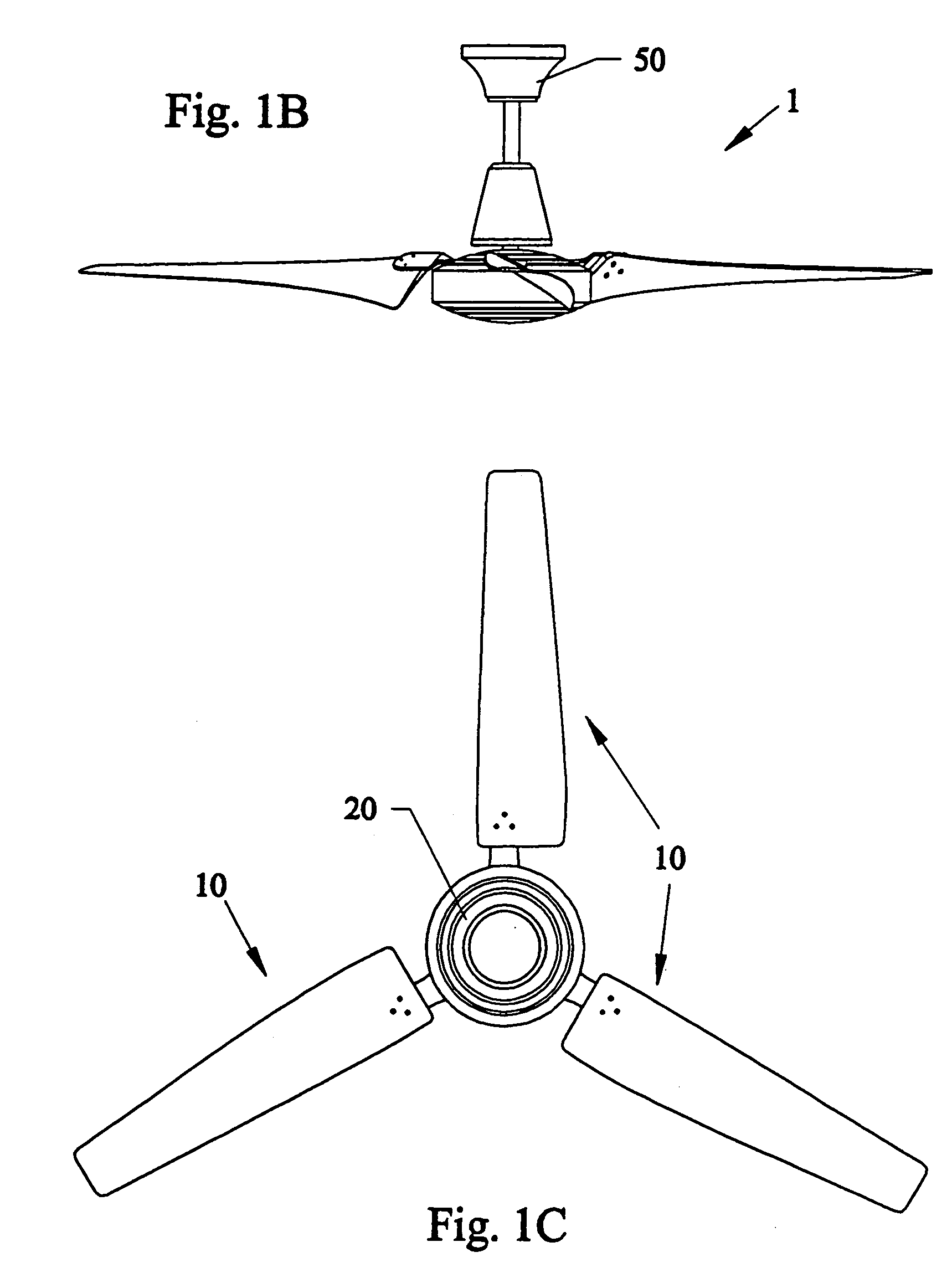 patent us7210910 - enhancements to high efficiency ceiling fan