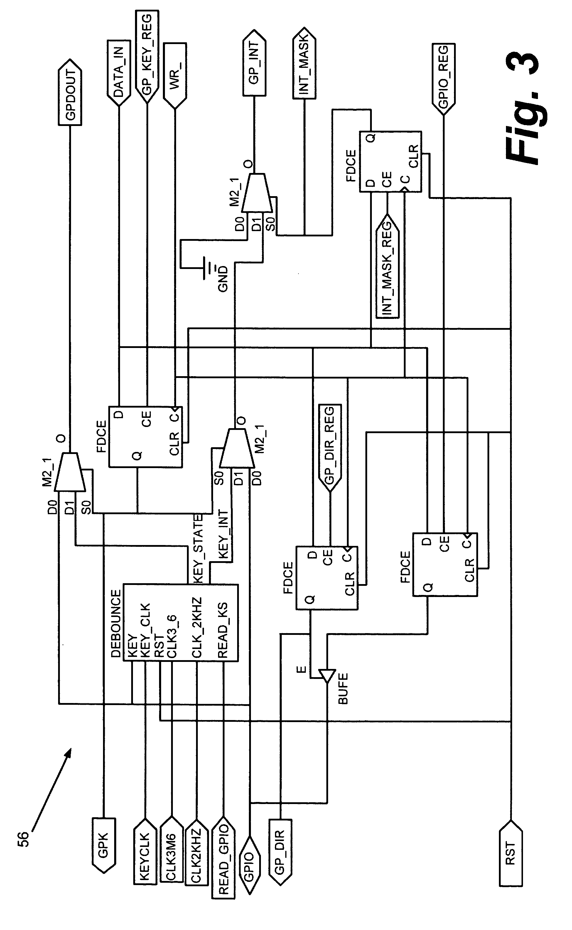 Patent Us7218250 Method And Apparatus For Keyboard Control With Debounce Switch Circuit Drawing