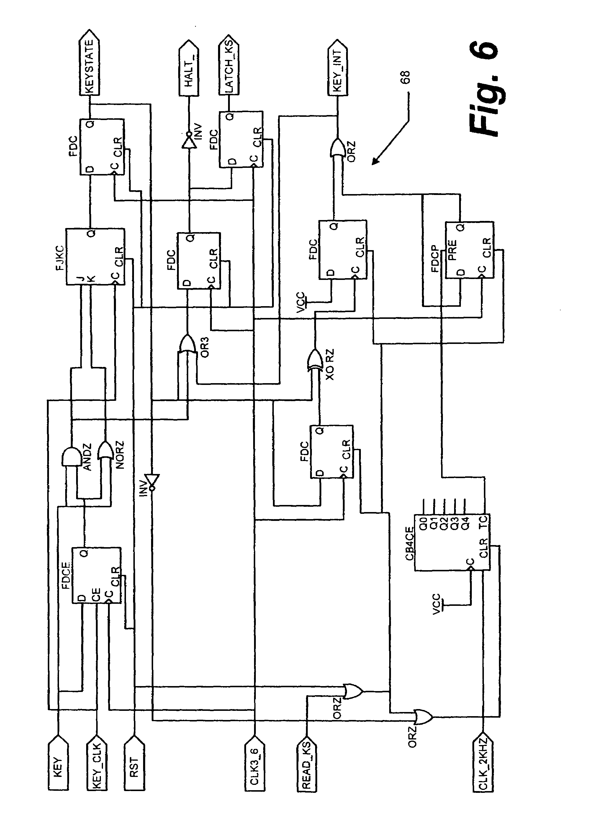 Patent Us7218250 Method And Apparatus For Keyboard Control With Debouncing Circuit Drawing