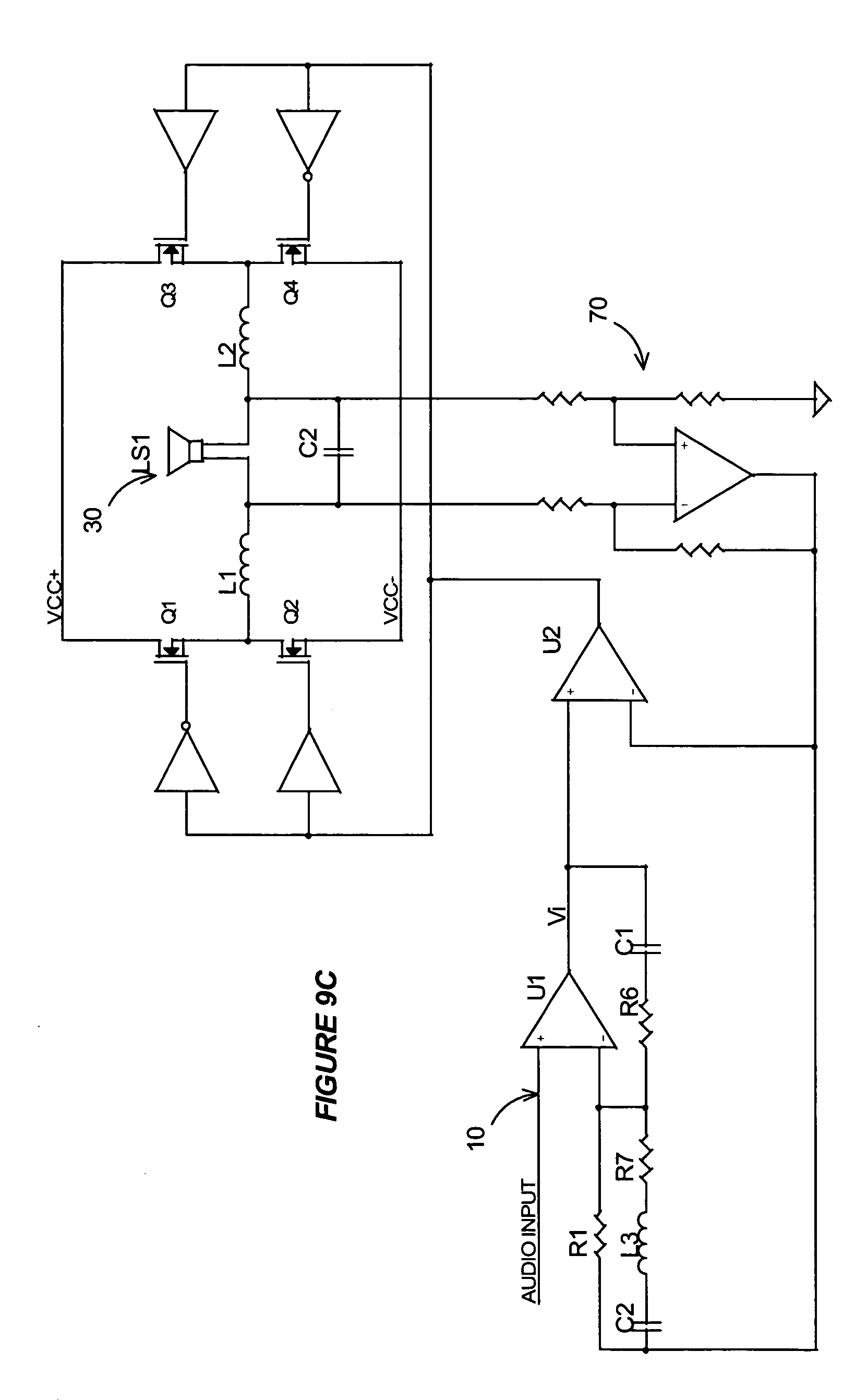 patent us7221216 - self-oscillating switching amplifier