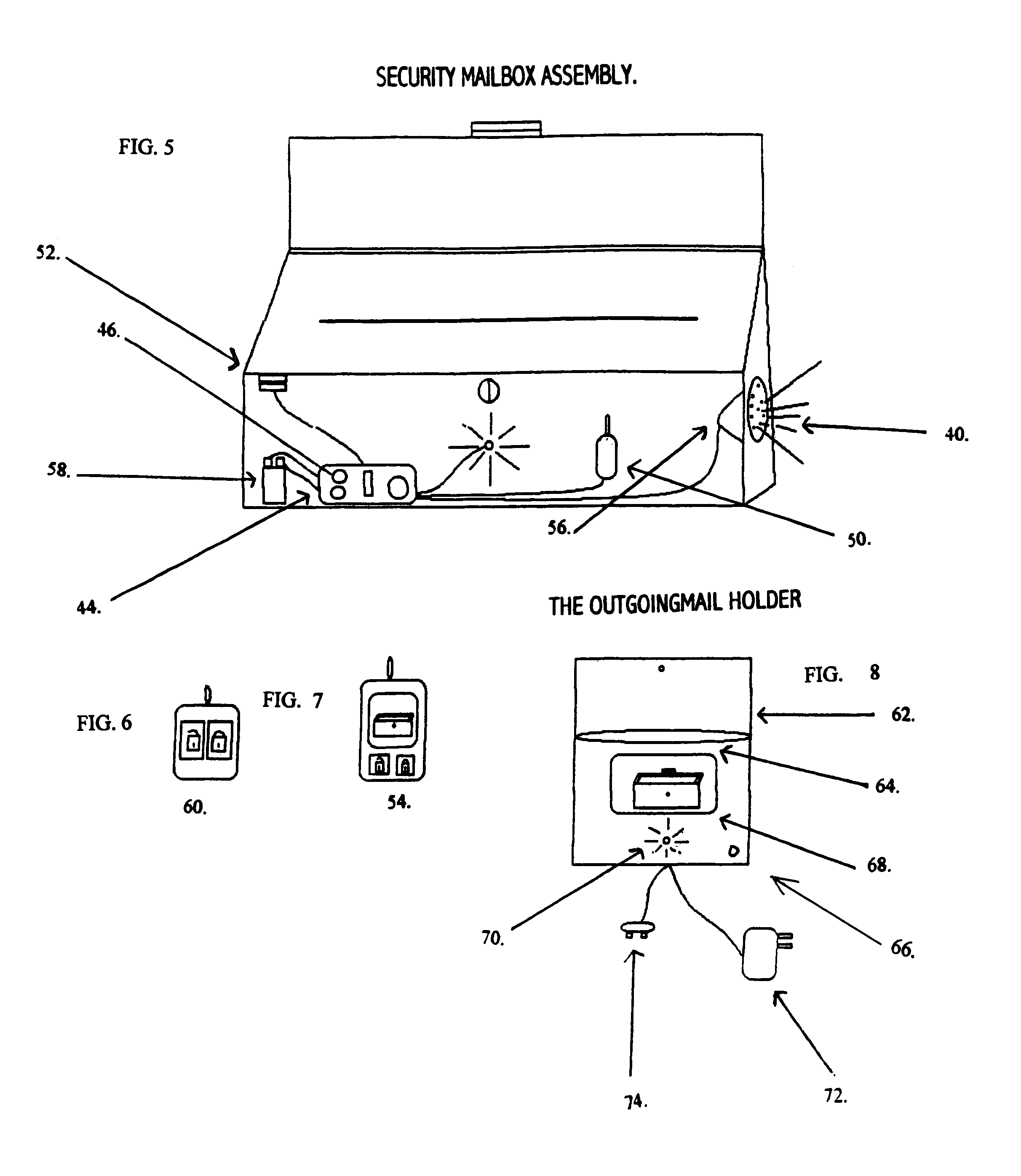 Patent Us7222779 Security Mail Box Assembly Google Patents Multitone Siren Alarm Circuit Diagram Drawing