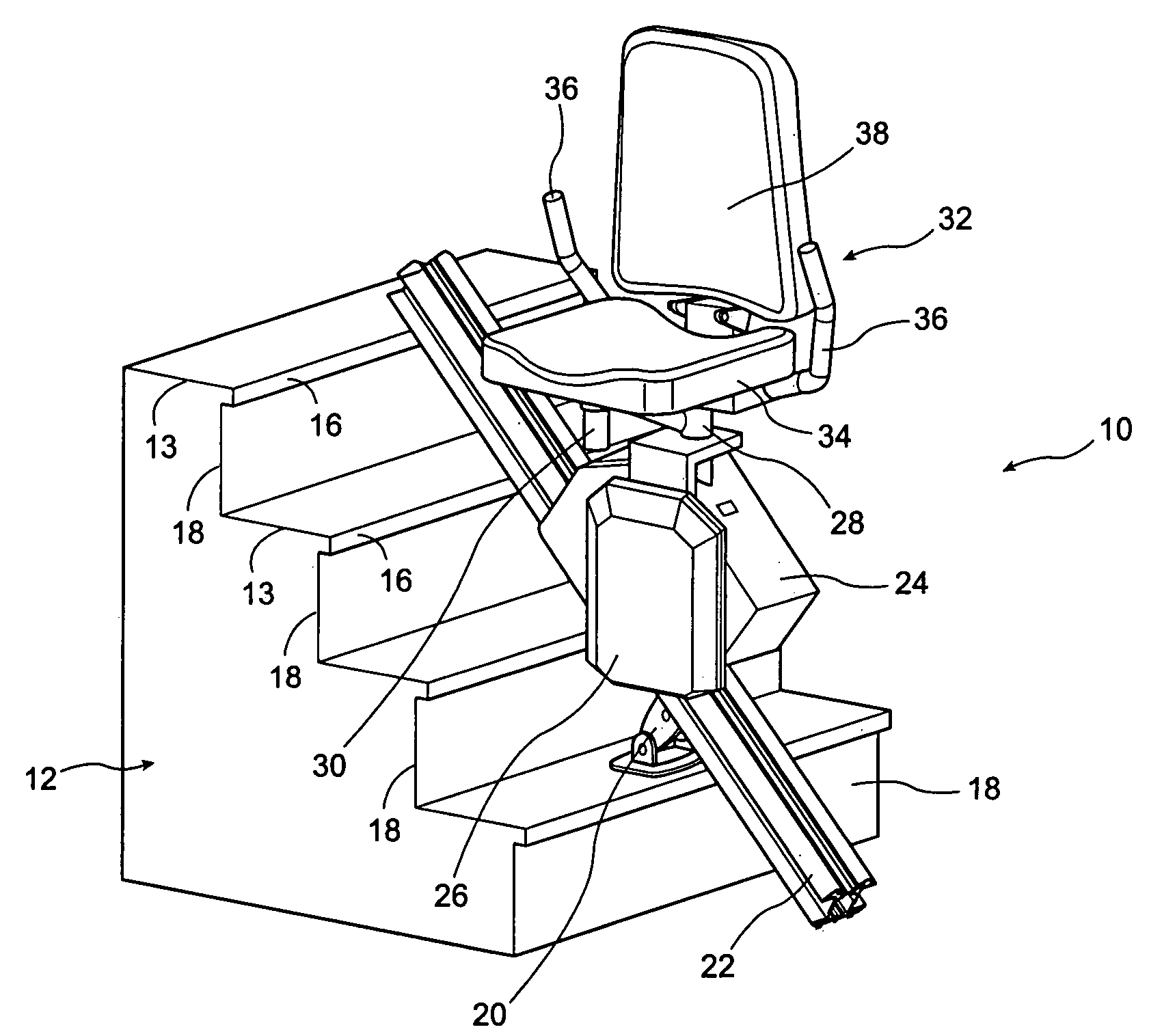patent us7225899 - stair lift device