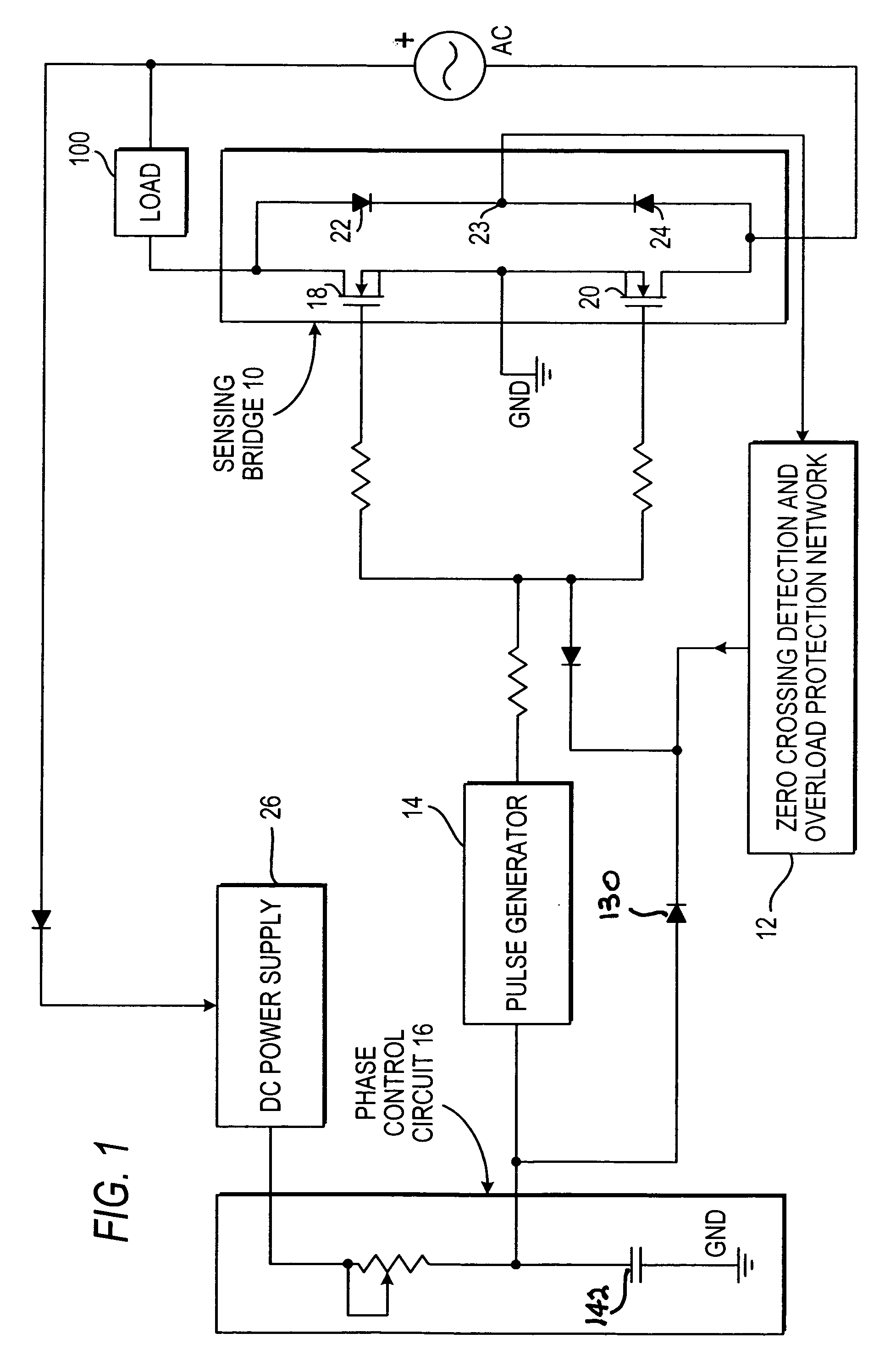 Alternating Current Sensing Circuit Wiring Diagram Master Blogs Currentsensorcircuitjpg Patent Us7242563 Reverse Phase Control Power Switching Ac Switch