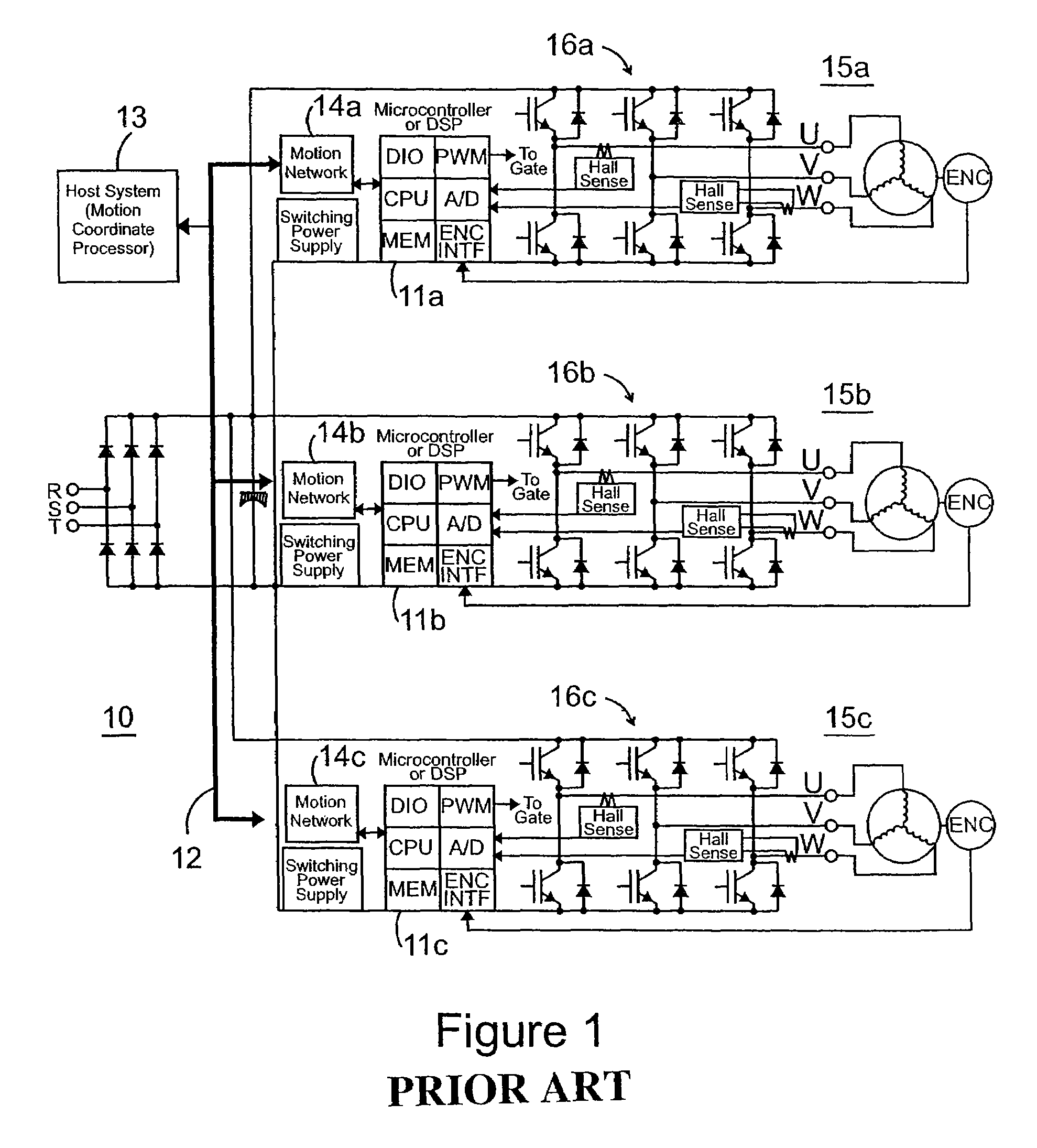 patent us7245100 - multi-axis ac servo control system and method