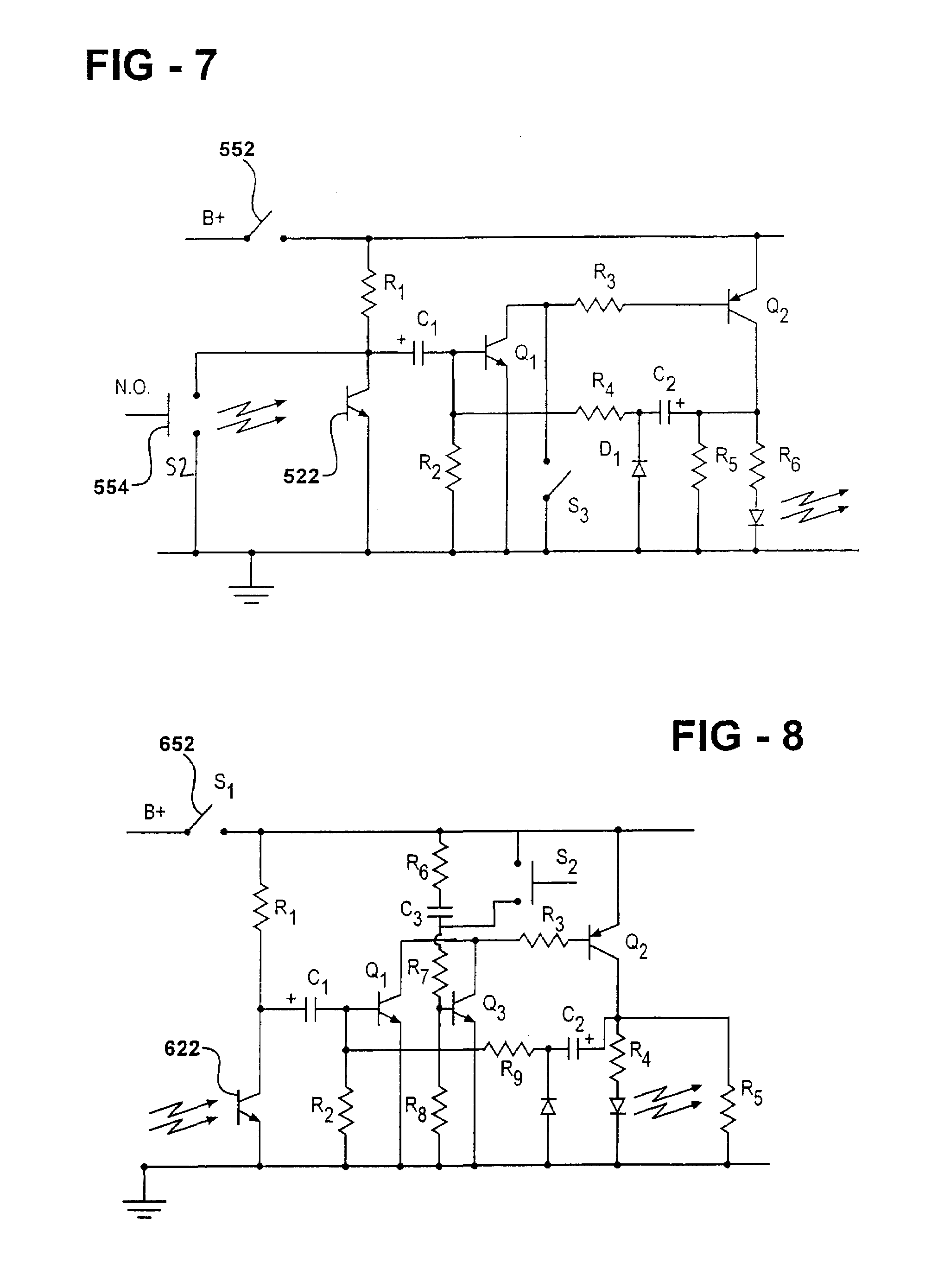 Patent Us7253570 Automatic Momentary Secondary Light Source Triac Switching Circuit Drawing