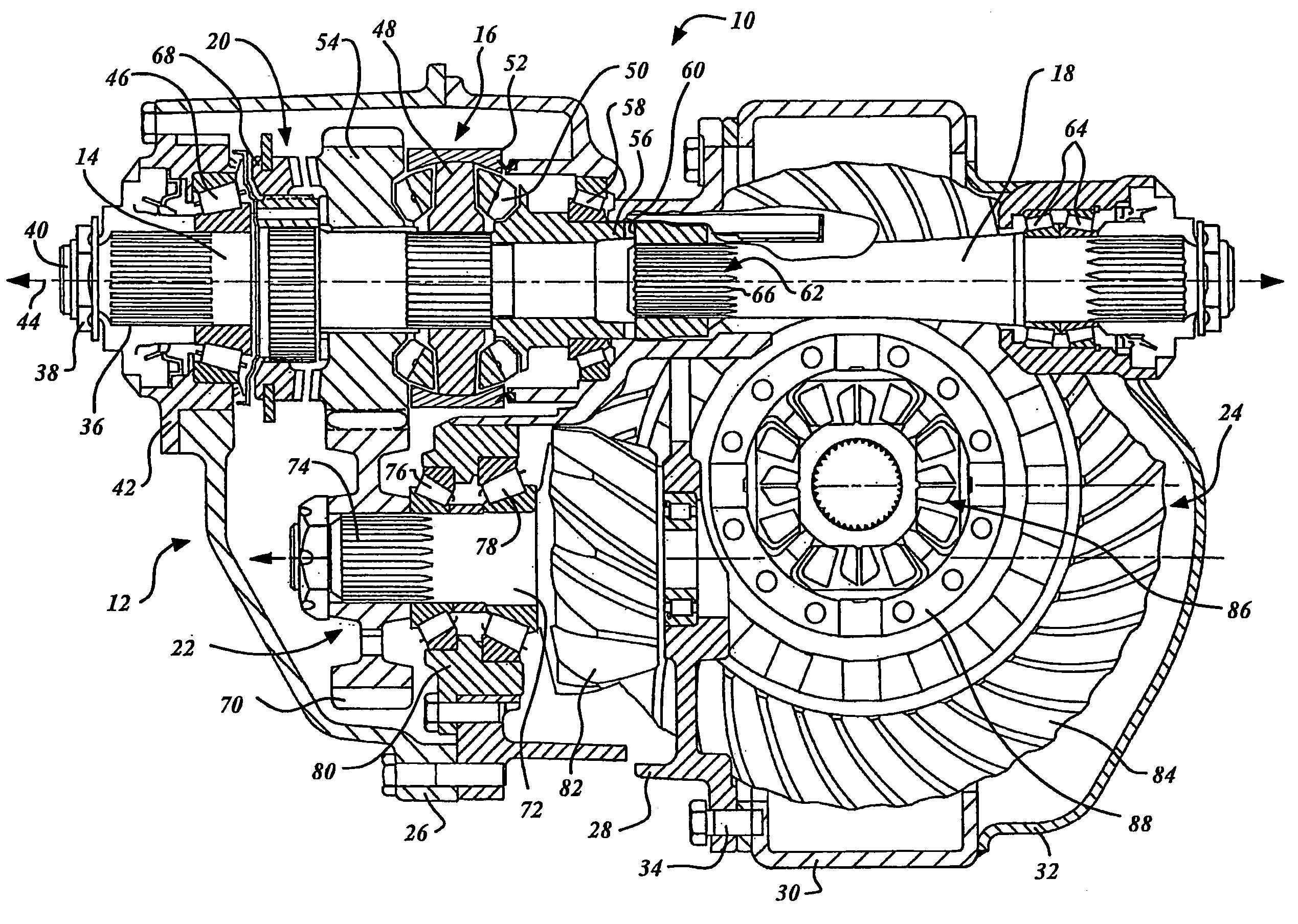 Patent Us7258641 Power Divider Lubrication In Tandem