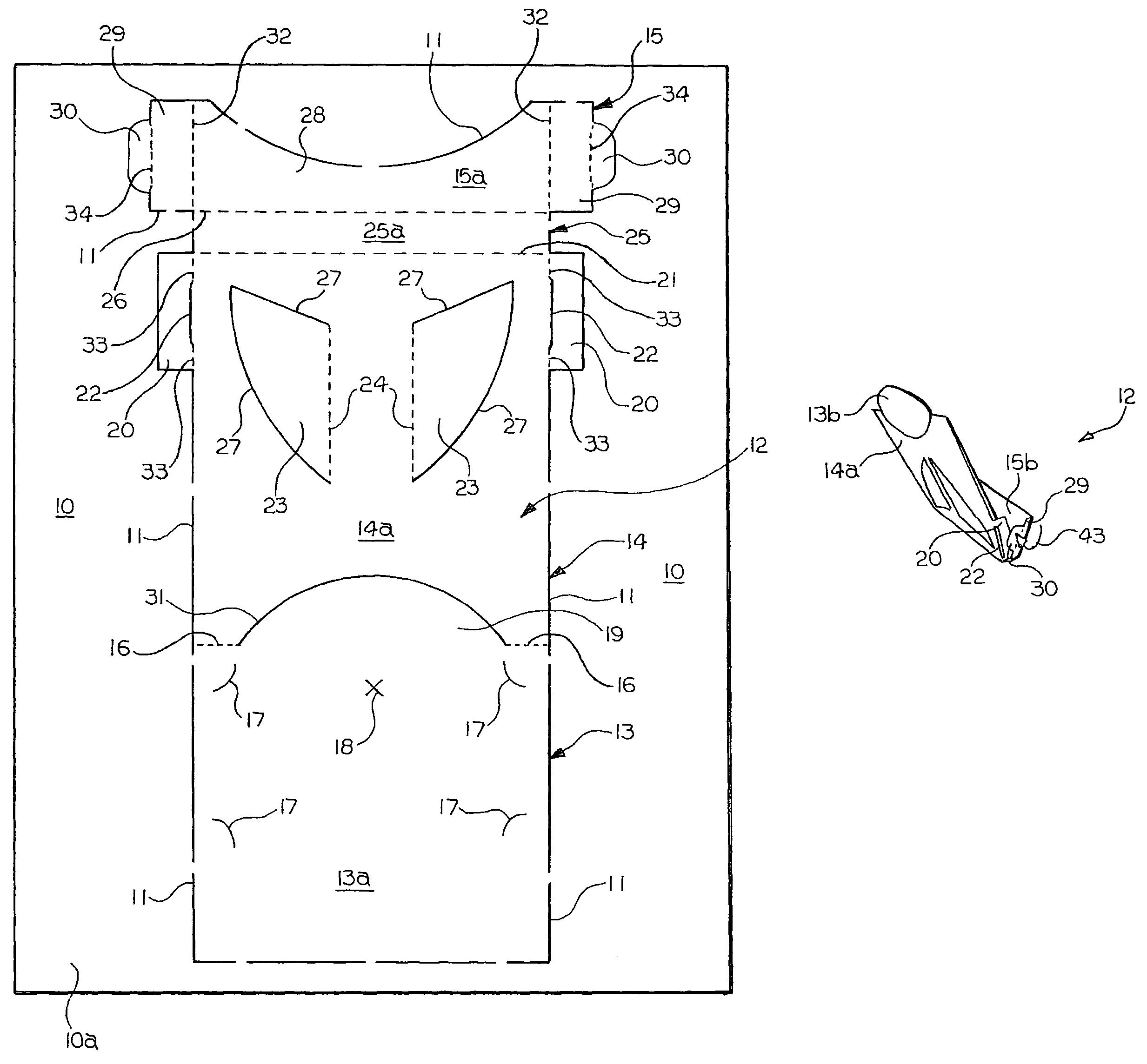 patent us7260907 printable die cut business card holder google patents. Black Bedroom Furniture Sets. Home Design Ideas