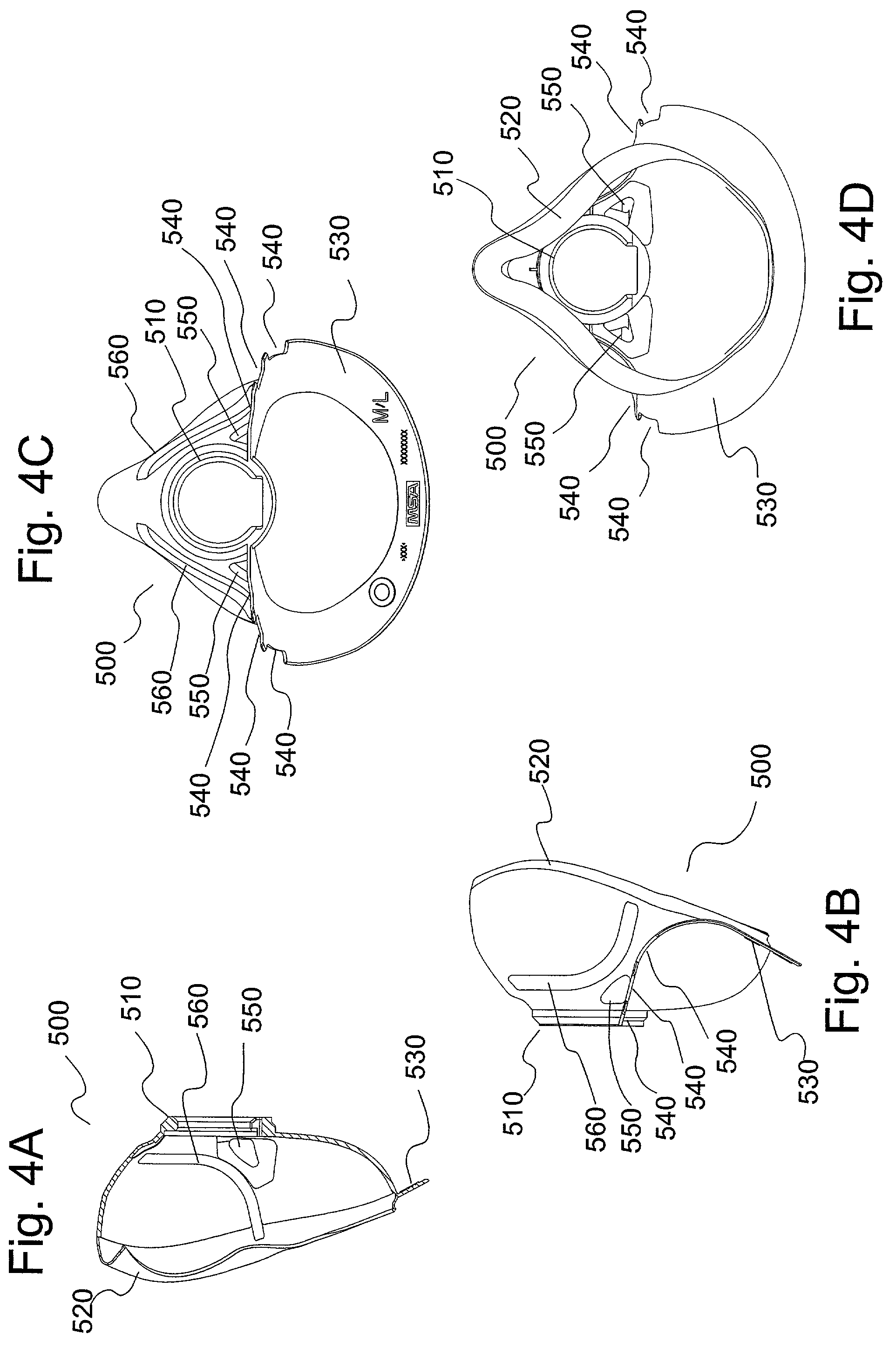 patent us7261104 respirator facepieces google patentsuche. Black Bedroom Furniture Sets. Home Design Ideas