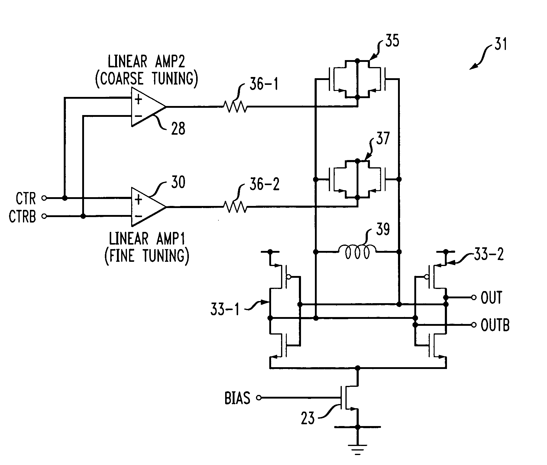 Patent Us7268630 Phase Locked Loop Using Continuously Auto Tuned Cmos Inverter Parallel Lc Oscillator Oscillatorcircuit Signal Drawing