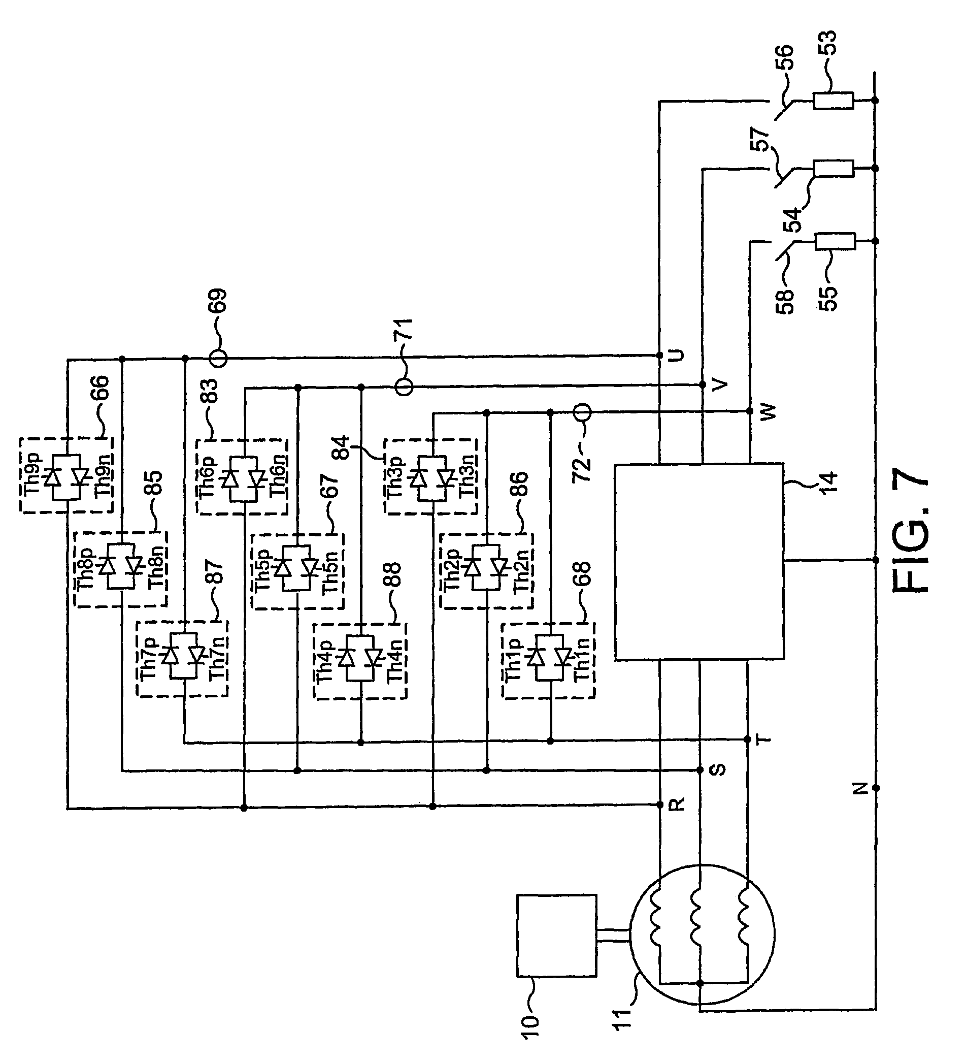 Patent Us7274547 Electrical Power Supply System And A Permanent Line Connected Motor Wiring Diagram With Bypass External Overload Drawing