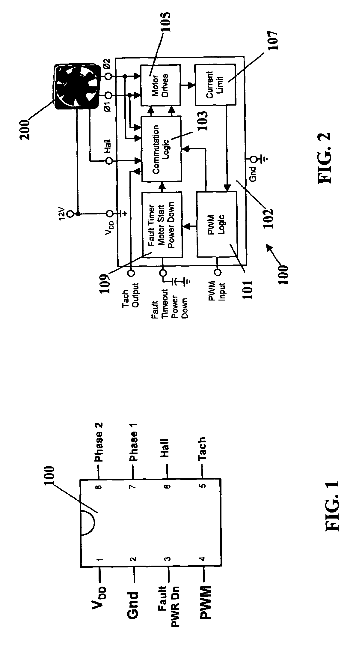 patent us7276867 - controller arrangement with adaptive non-overlapping commutation