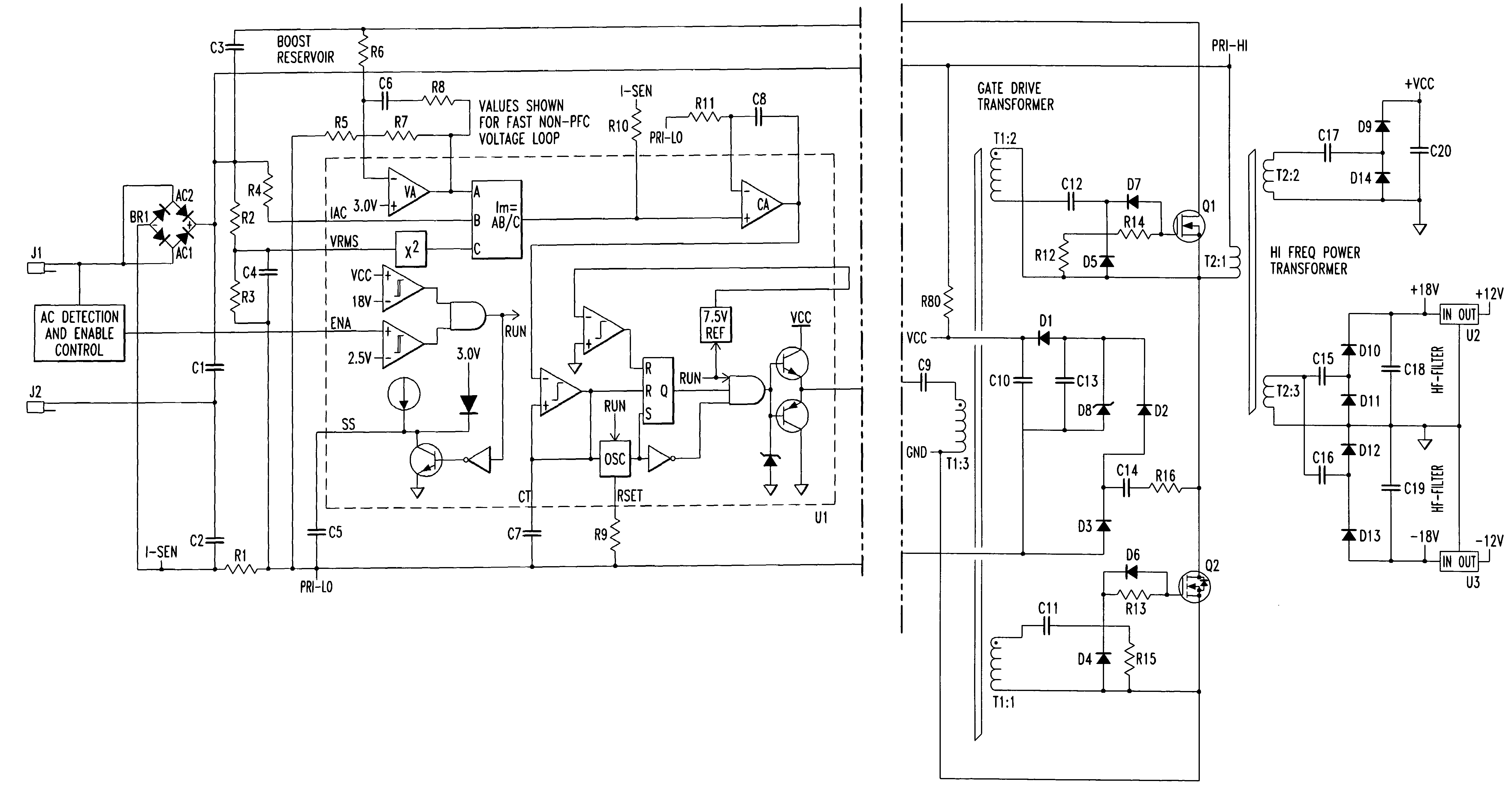 Patent US7279967 - Multi-channel, multi-power class D amplifier with
