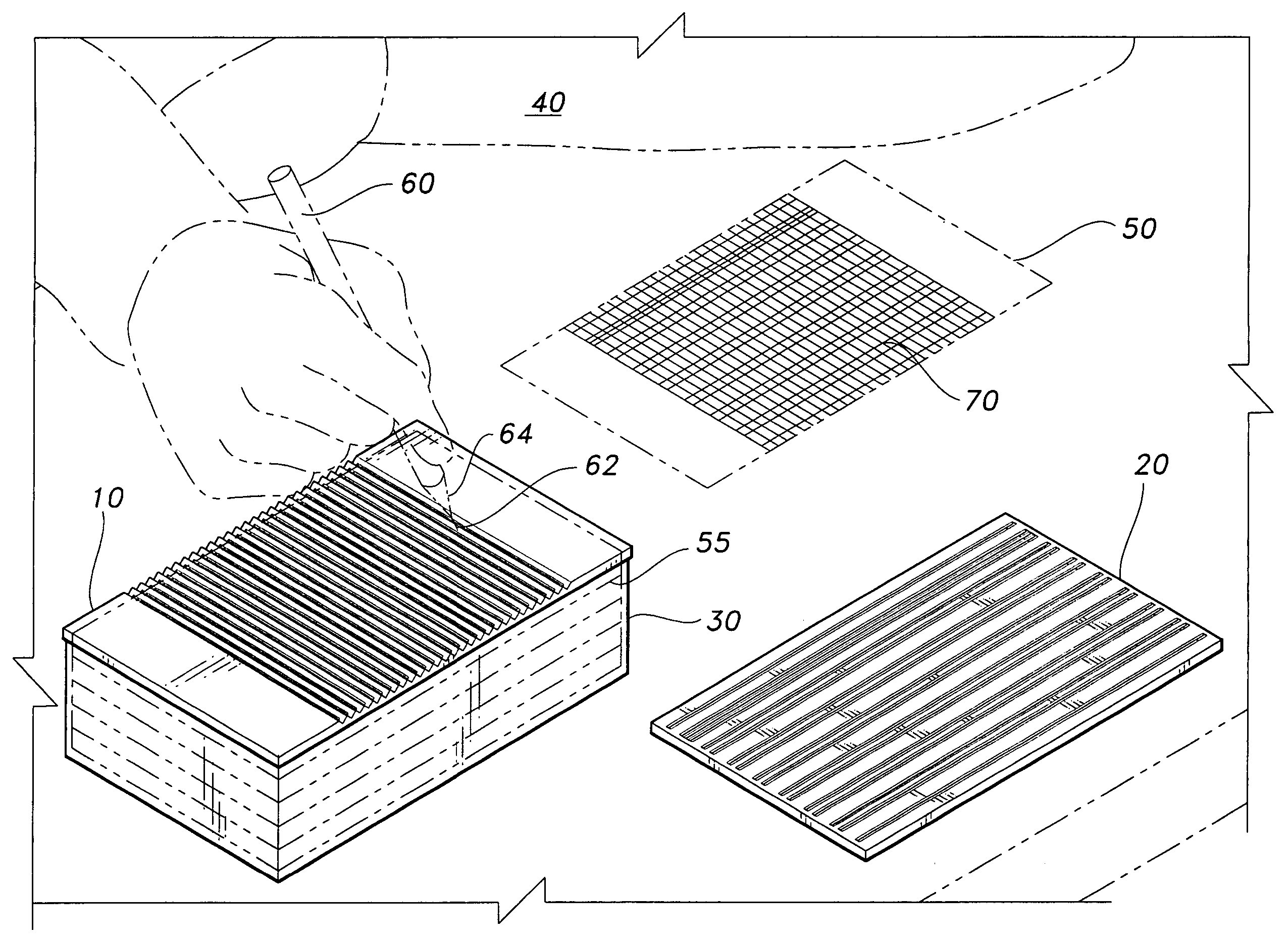 patent us7287339 template for ruling index cards google patents. Black Bedroom Furniture Sets. Home Design Ideas