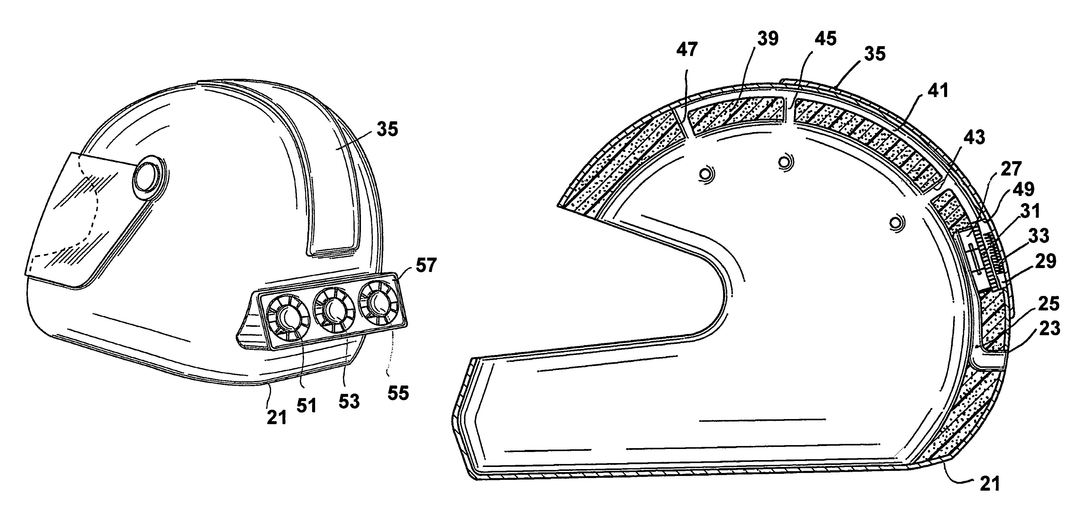 Patent Us7296304 Crash Helmet With Thermoelectric
