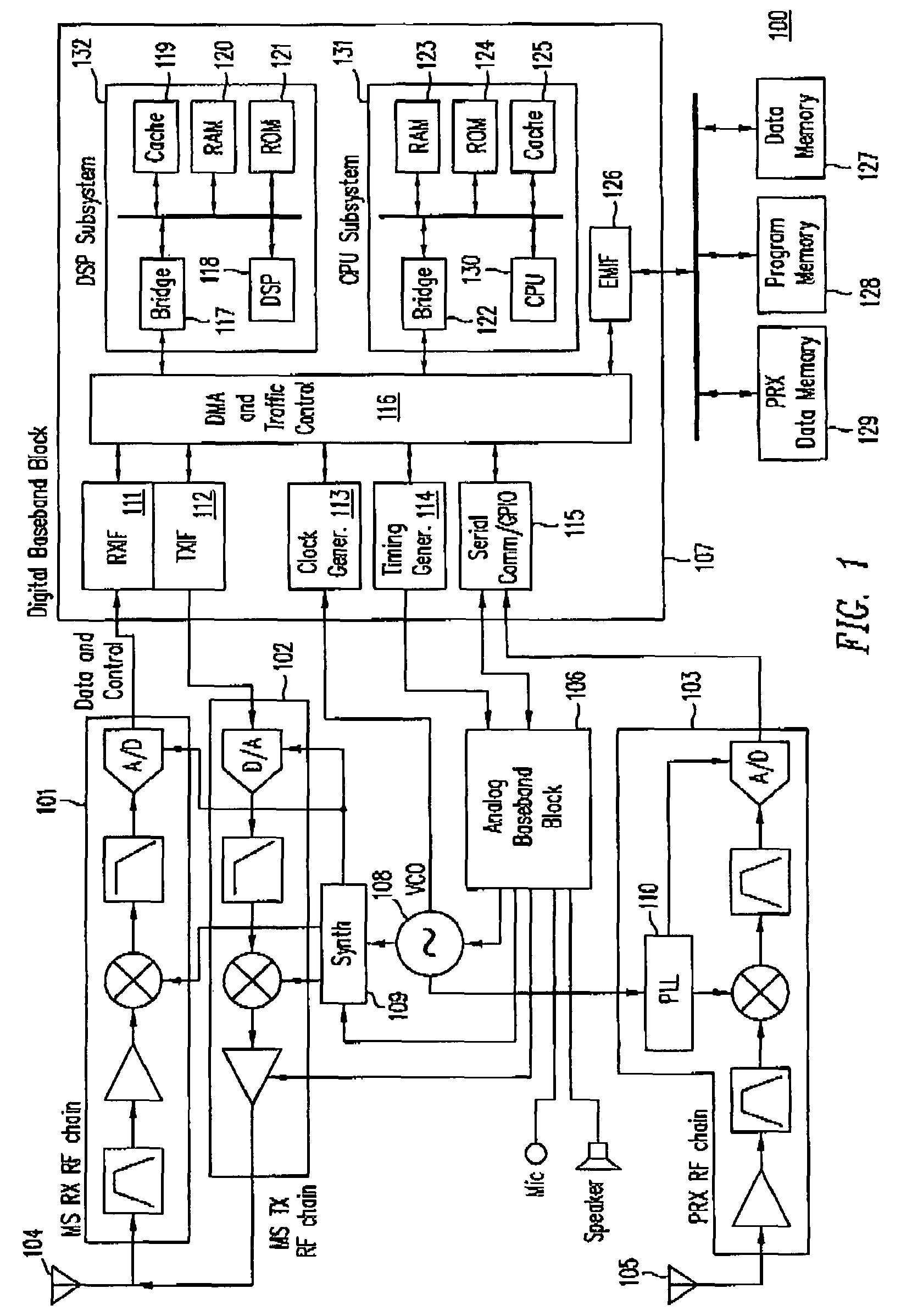 Patent Us7299024 Compensation For Frequency Adjustment In Mobile Circuit Gpsreceiver Communicationcircuit Diagram Drawing