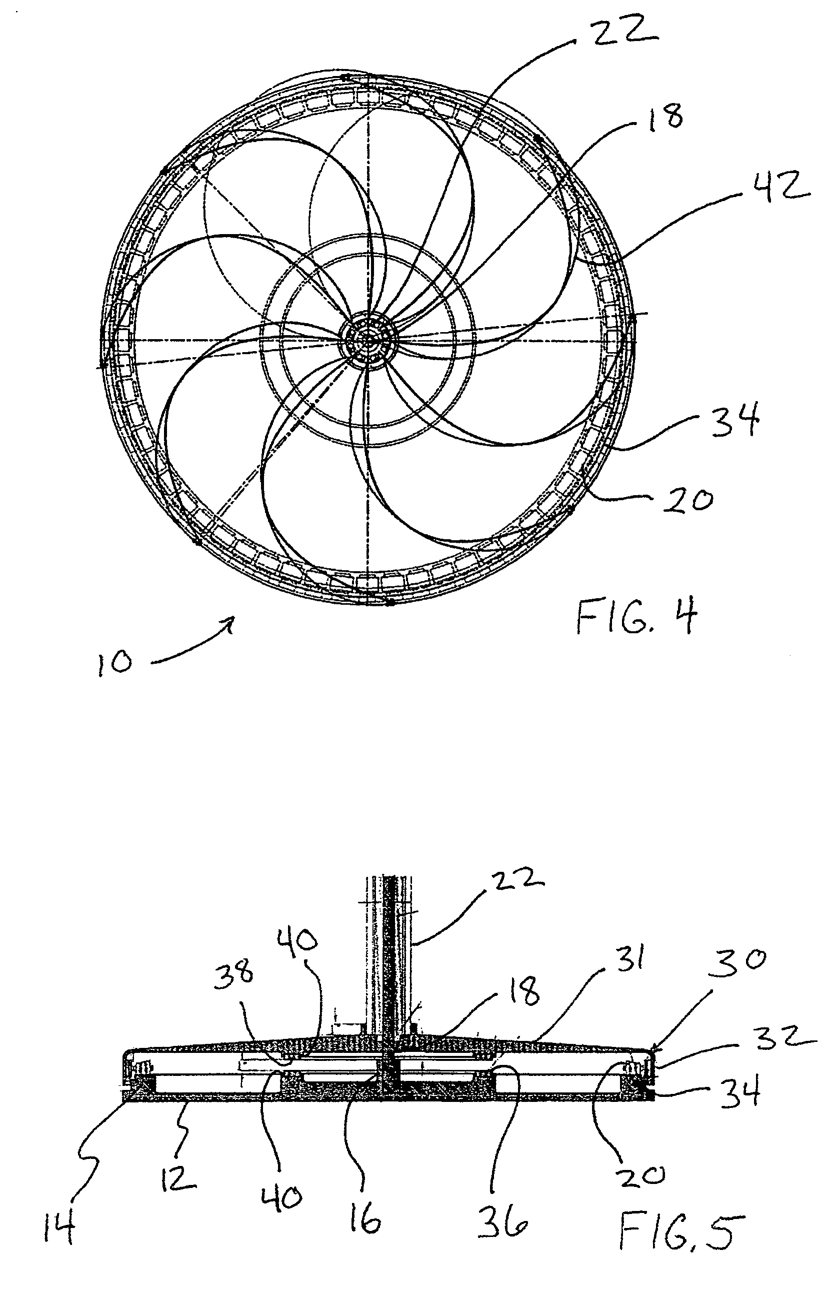 patent us7303369 - magnetic vertical axis wind turbine