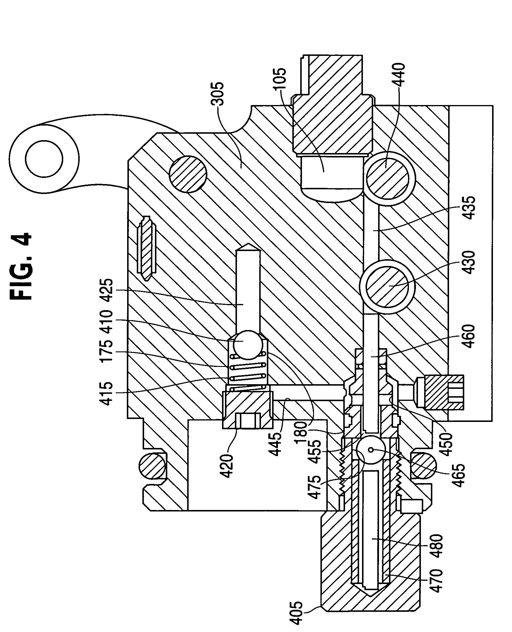 hand hydraulic pump schematic