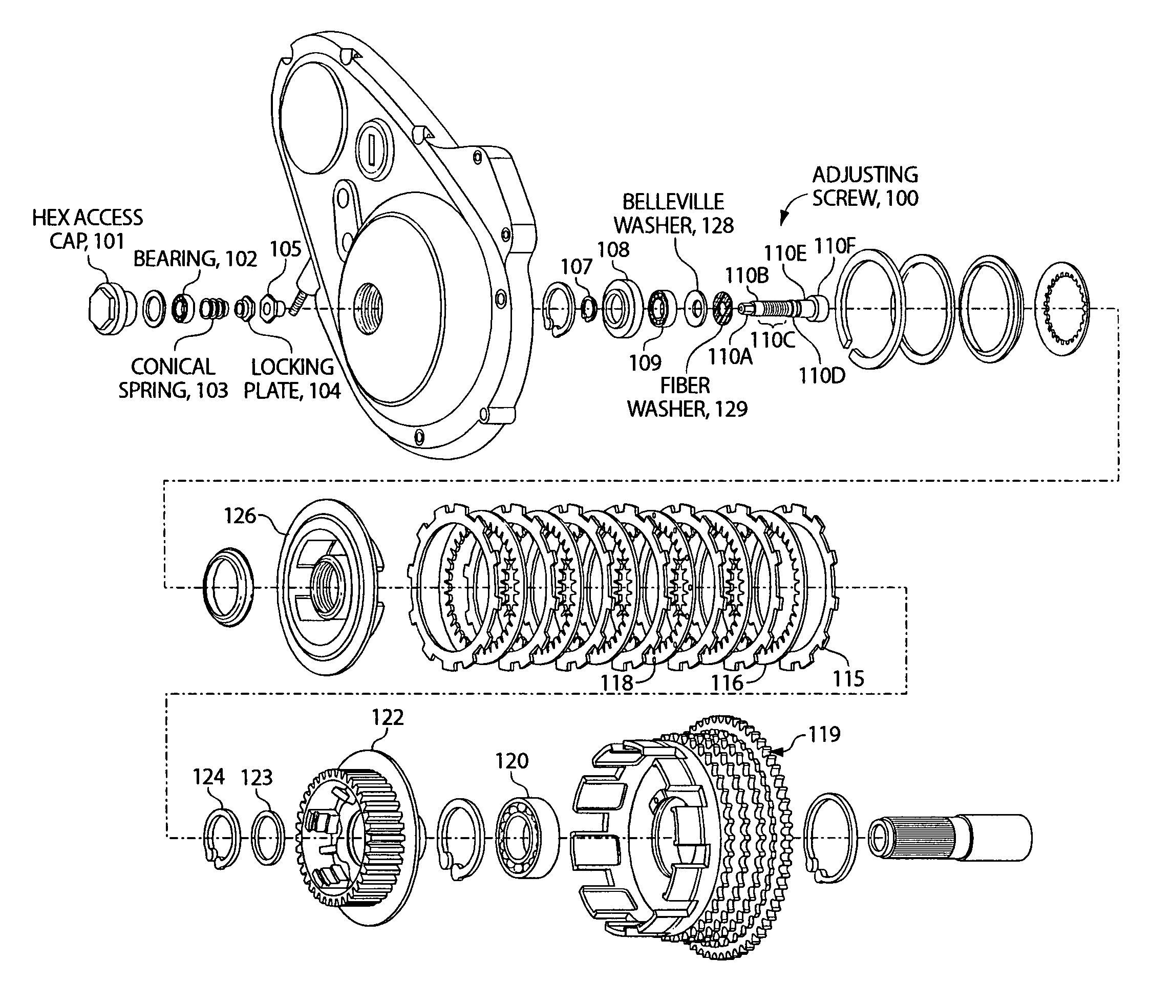 Harley Davidson Clutch Assembly Diagram Wiring Diagrams Twin Cam Chain Tensioner On 103 Engine Driveline Free 2007 Sportster 1997 Basket